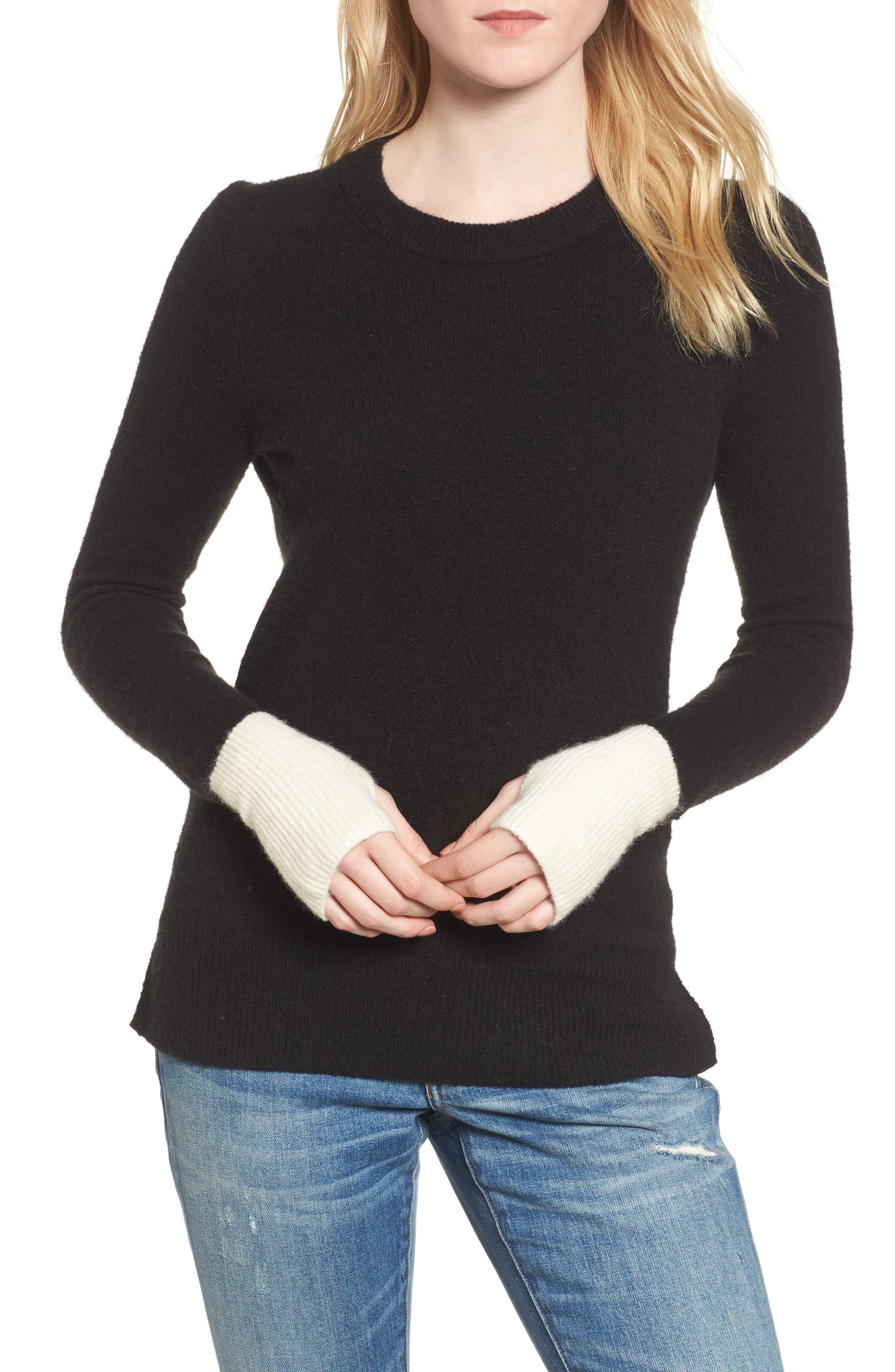 Fremont Colorblock Pullover Sweater,                             Main thumbnail 1, color,                             True Black