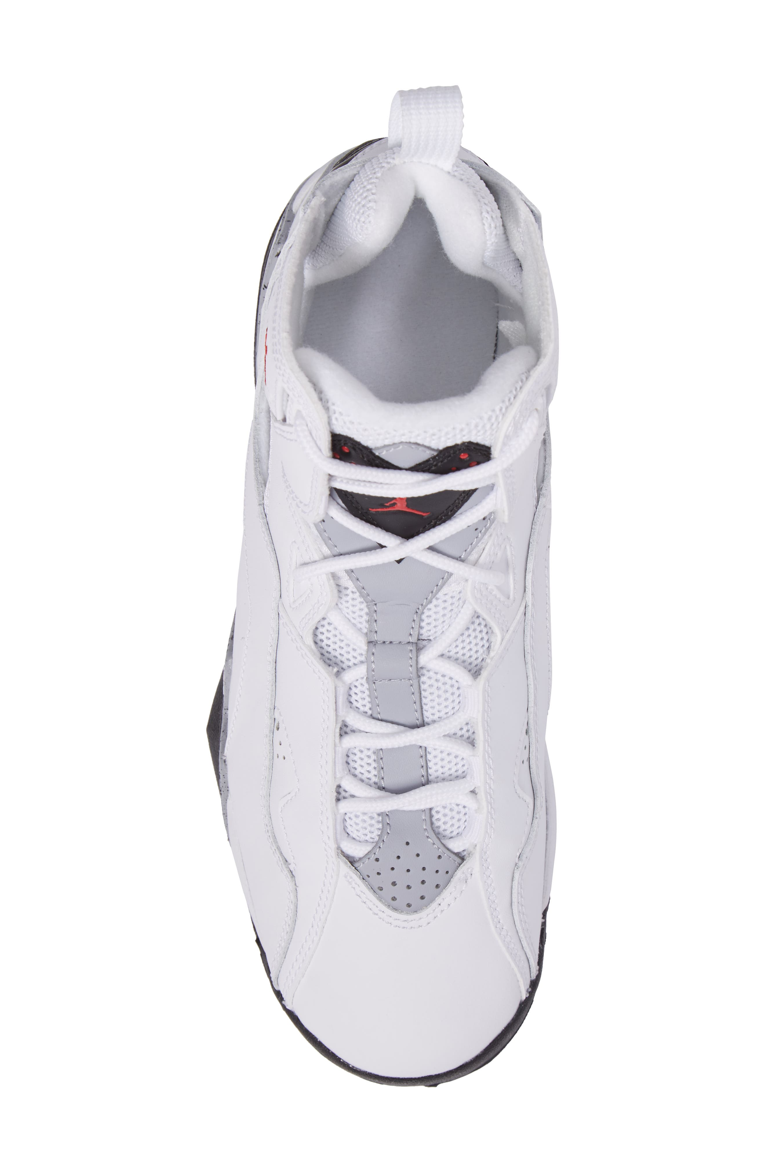 True Flight BG High Top Sneaker,                             Alternate thumbnail 5, color,                             White/ Gym Red/ Wolf Grey