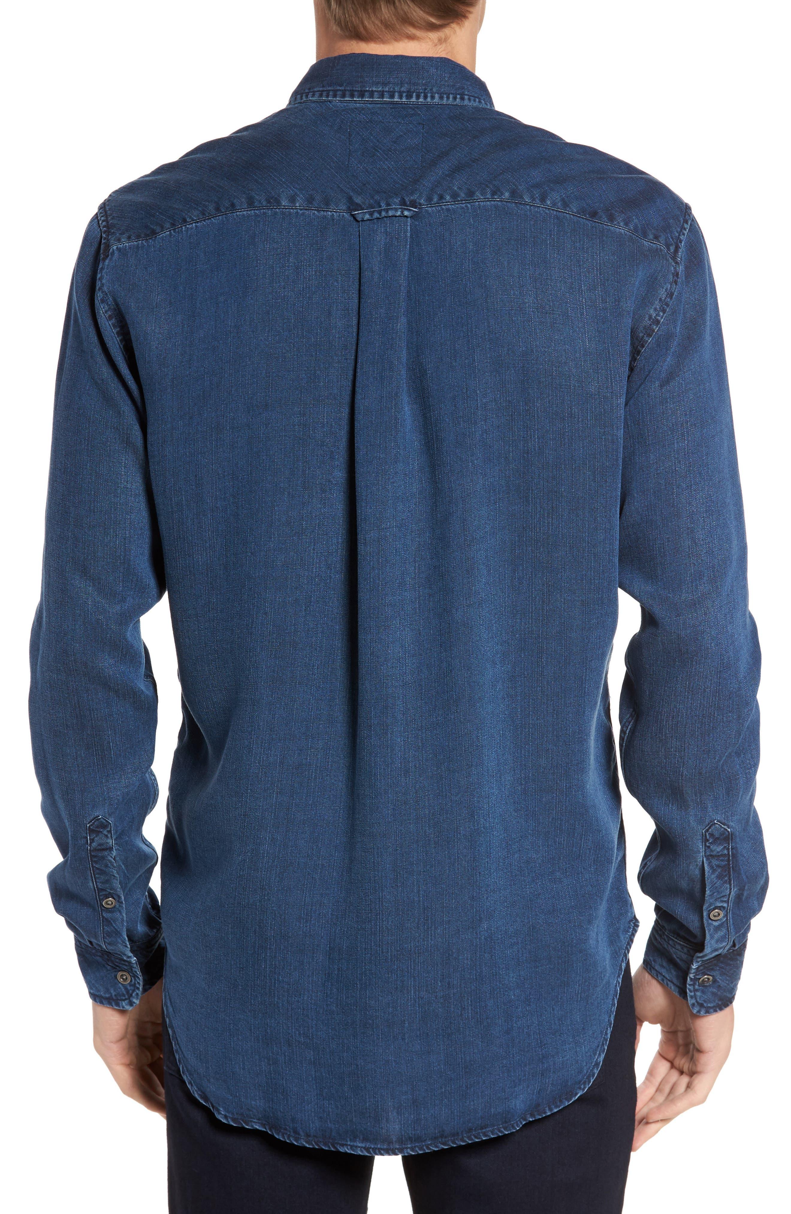 Beckford Denim Sport Shirt,                             Alternate thumbnail 2, color,                             Midnight Vintage