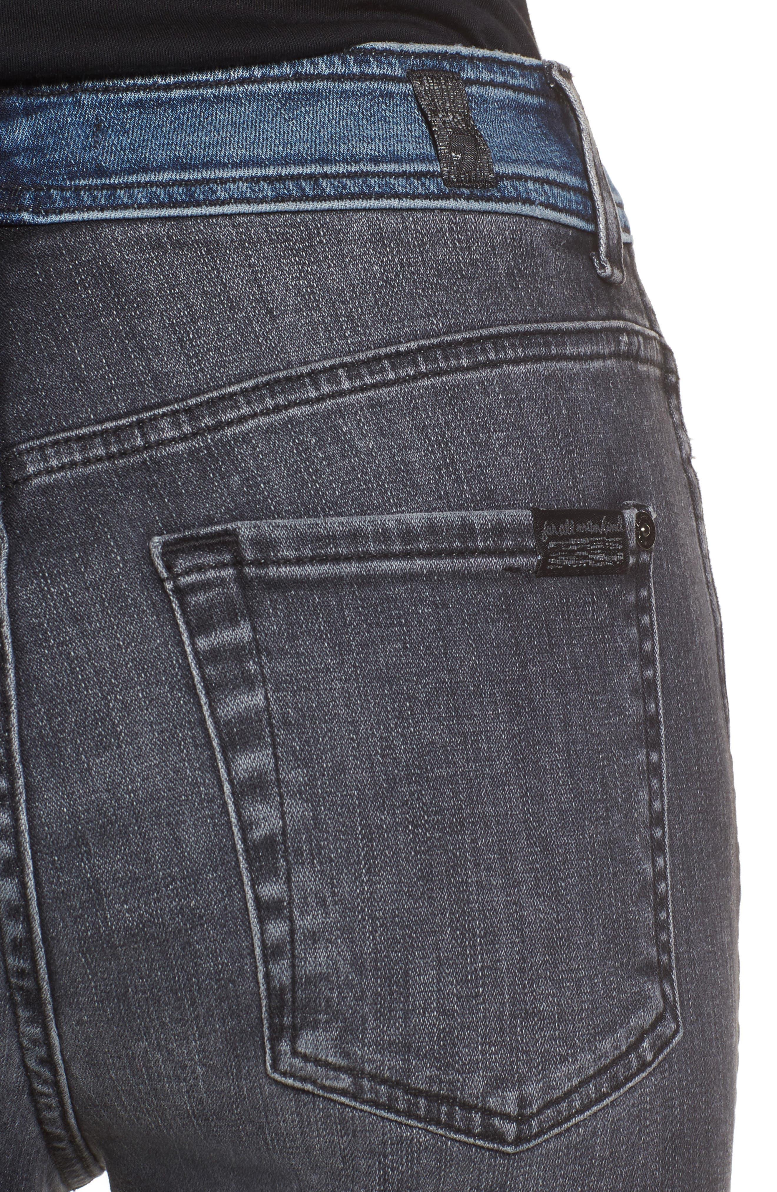 The Ankle Skinny Jeans,                             Alternate thumbnail 4, color,                             Indigo Sulphur