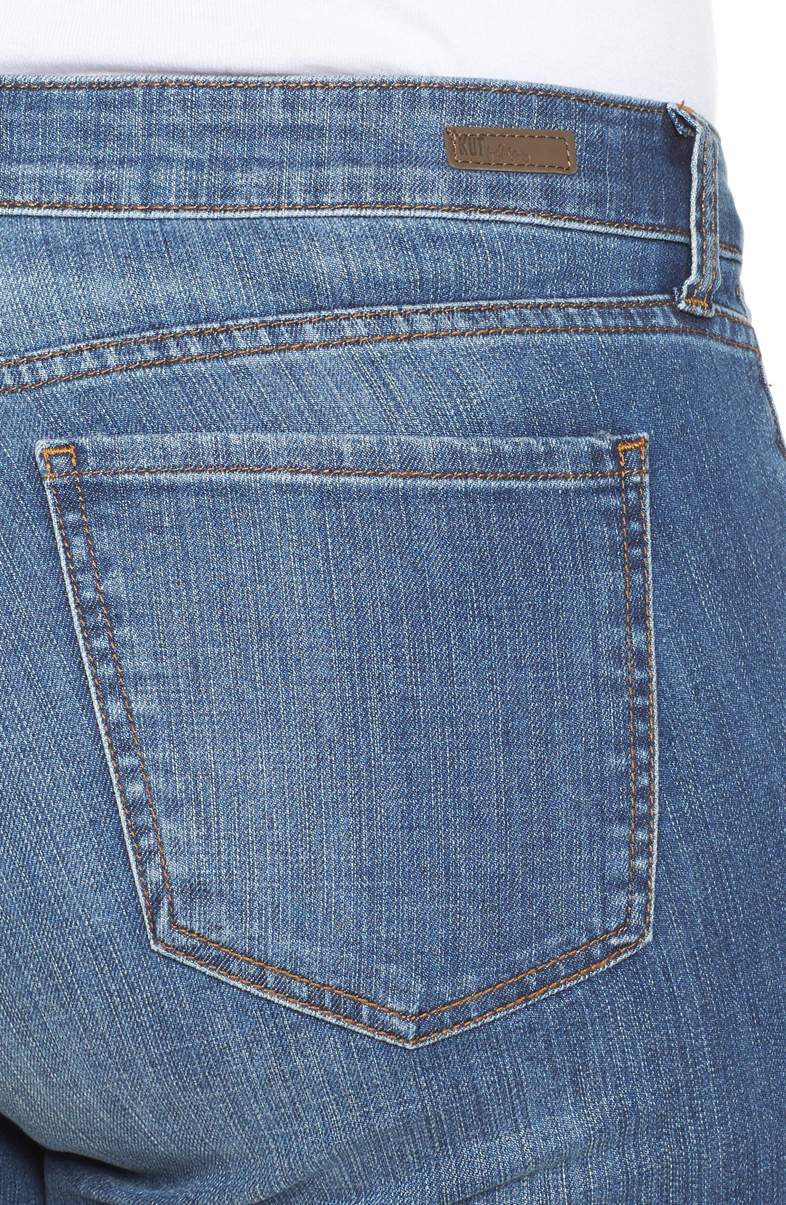 Alternate Image 4  - KUT from the Kloth Catherine Boyfriend Jeans (Fervent) (Plus Size)