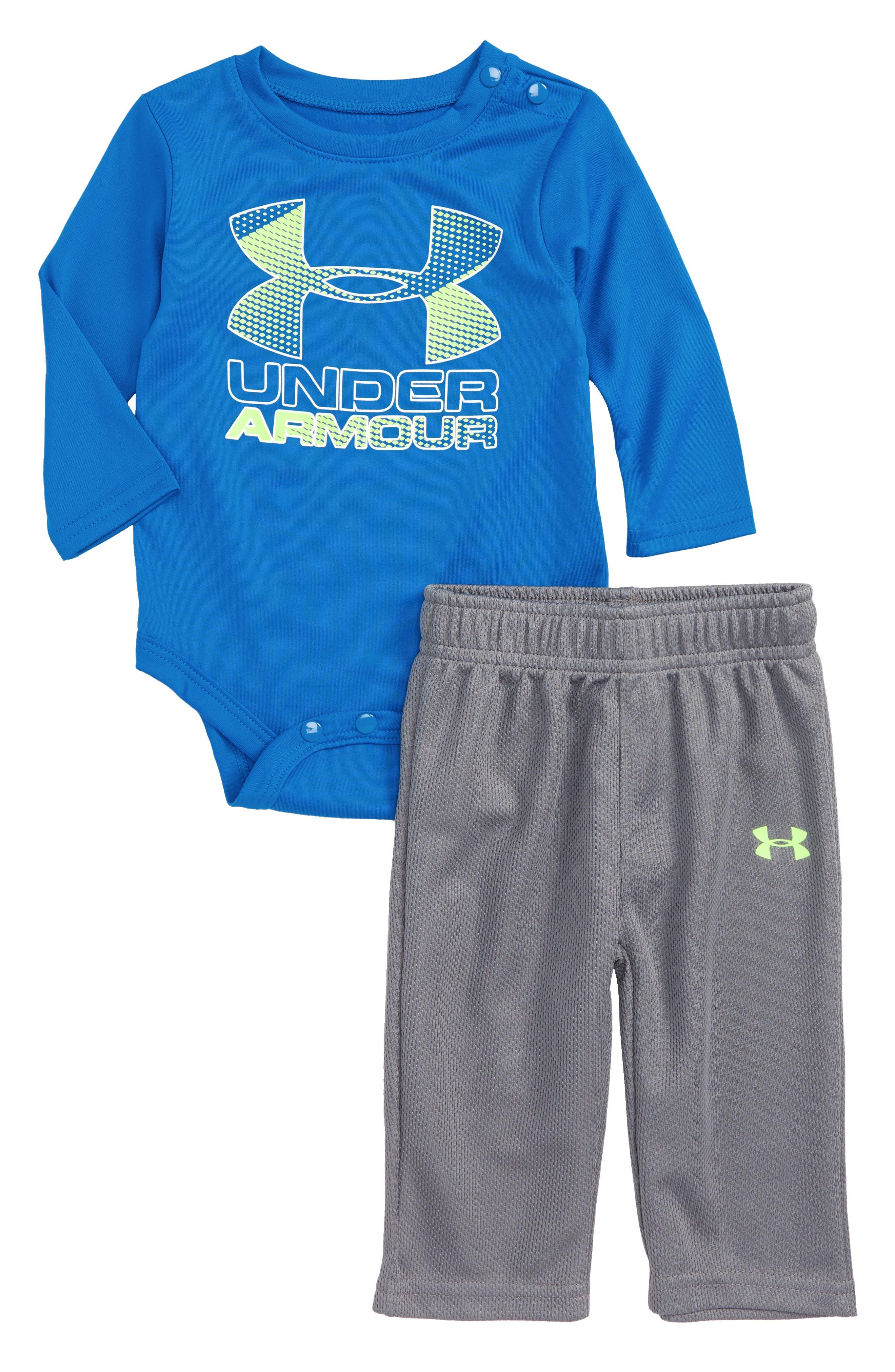 Under Armour Hybrid Logo Graphic Bodysuit & Pants Set (Baby Boys)
