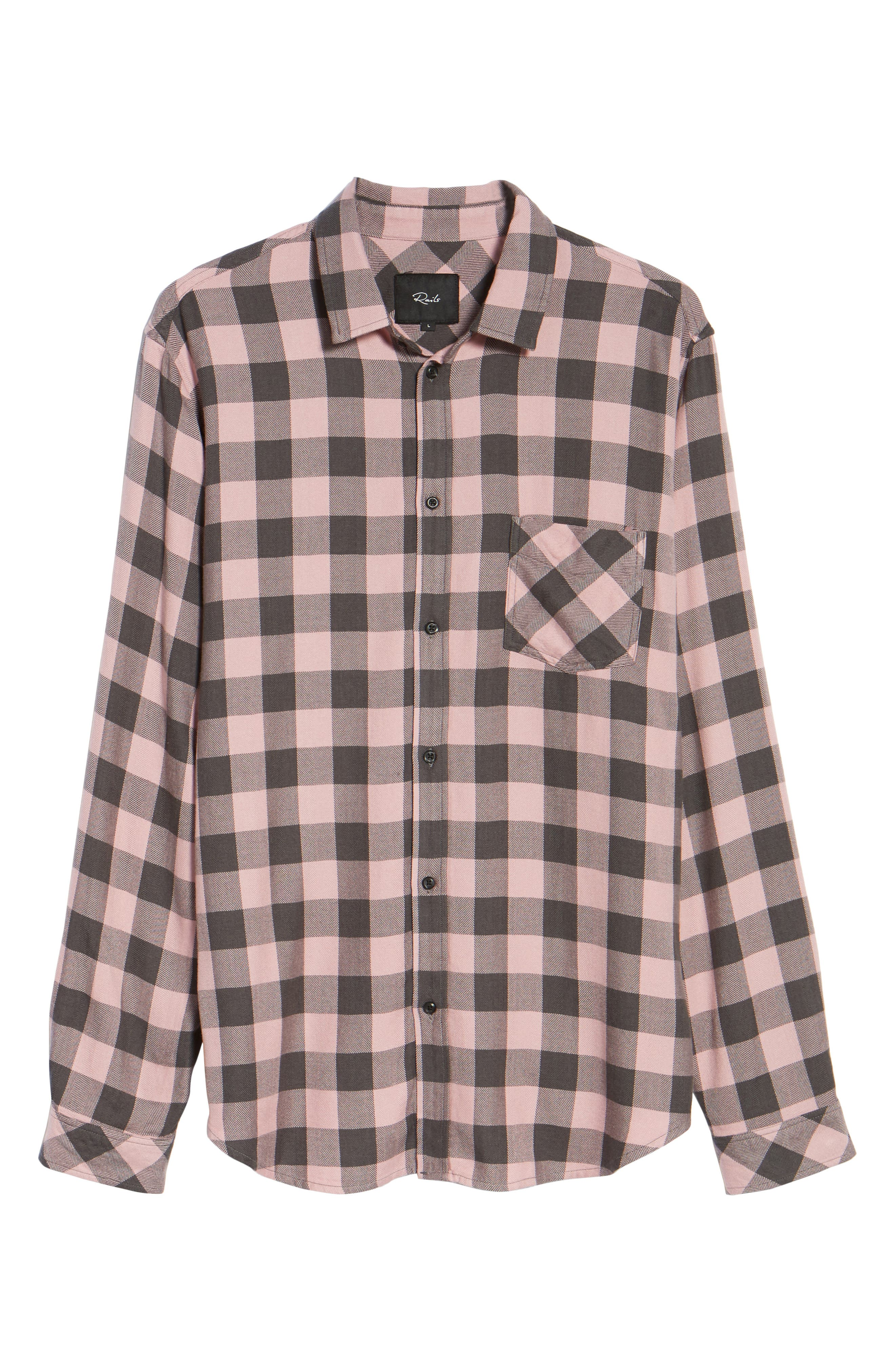 Lennox Sport Shirt,                             Alternate thumbnail 6, color,                             Pale Pink/ Charcoal