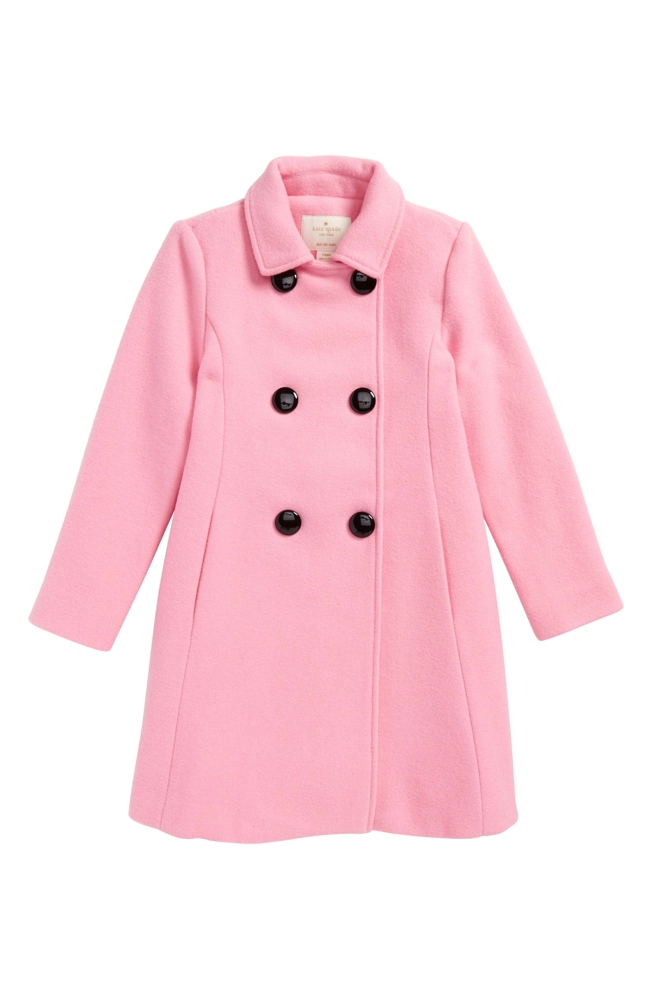 kate spade new york swing coat (Toddler Girls & Little Girls)