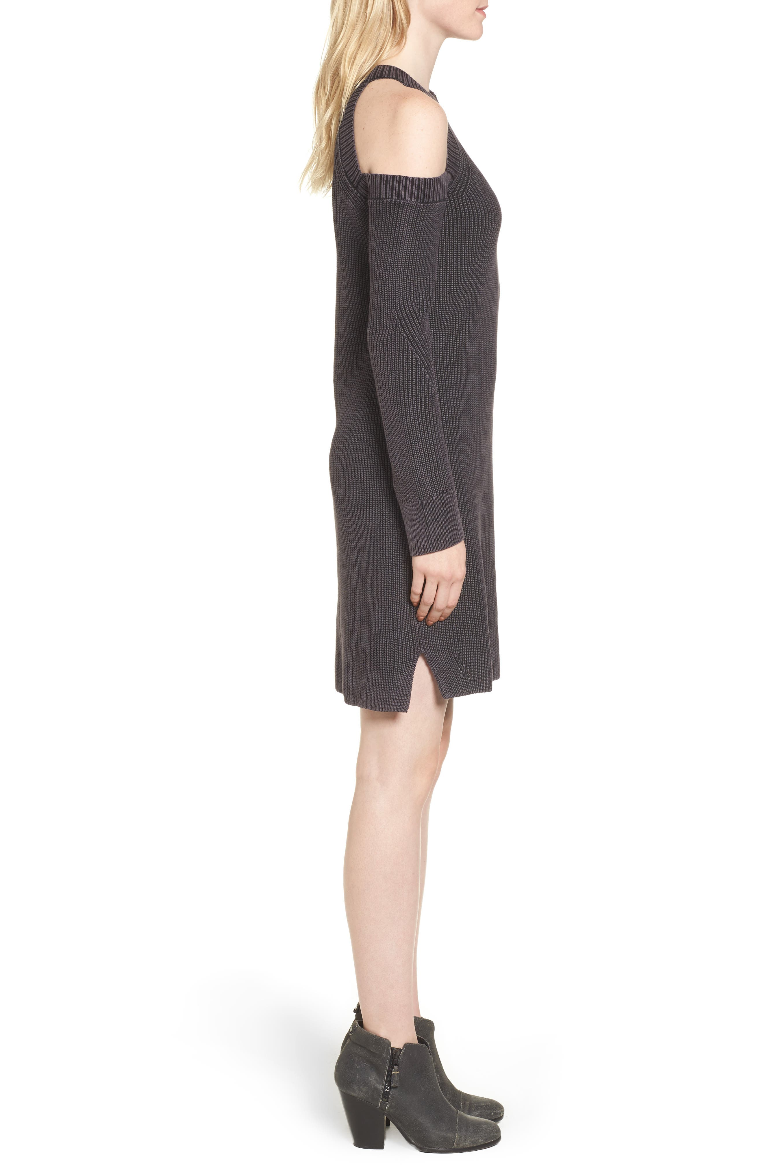 Alternate Image 3  - rag & bone/JEAN Dana Cold Shoulder Sweater Dress
