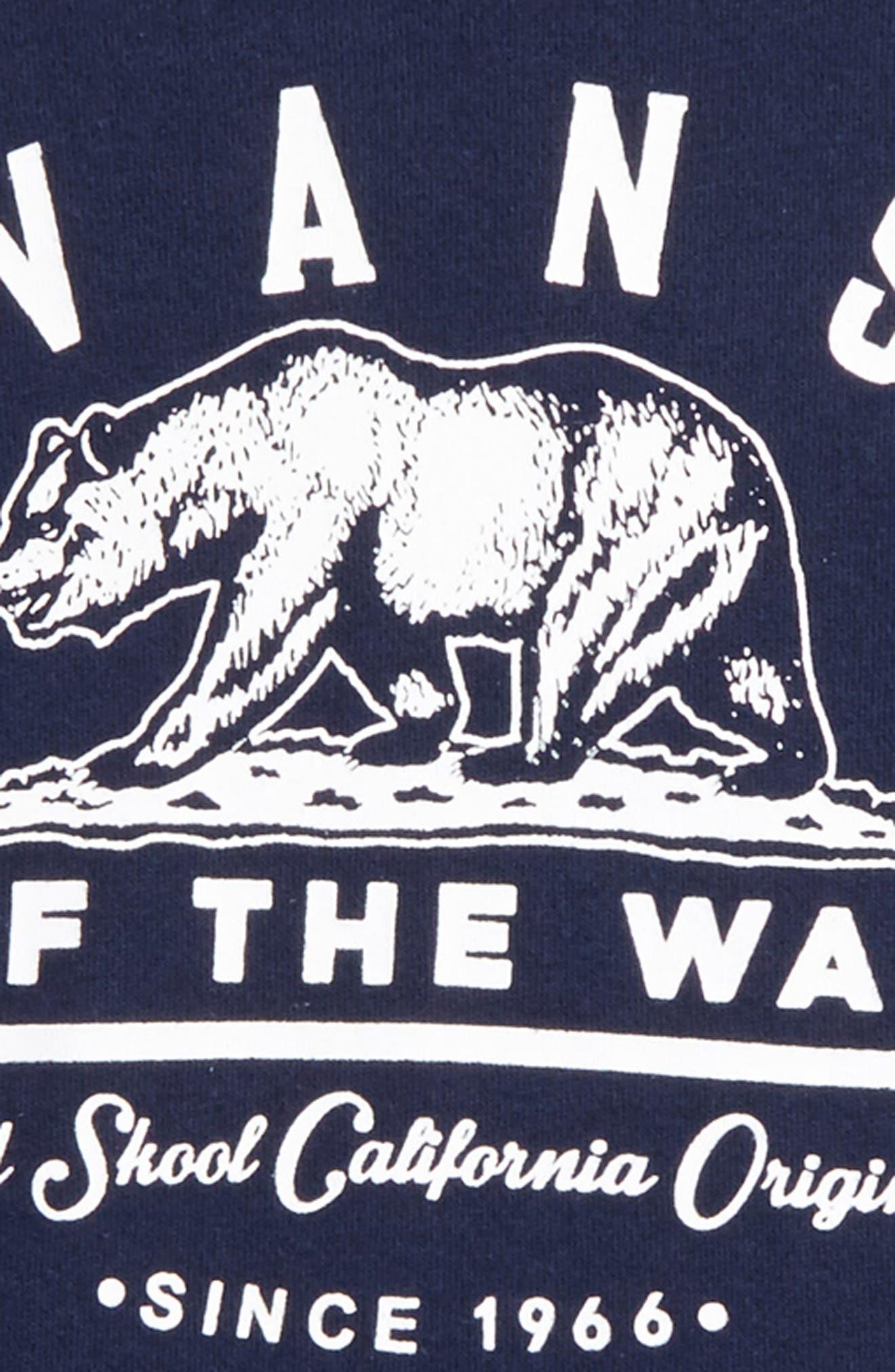 Alternate Image 2  - Vans Old Skool Cali Bear Graphic Hoodie (Big Boys)