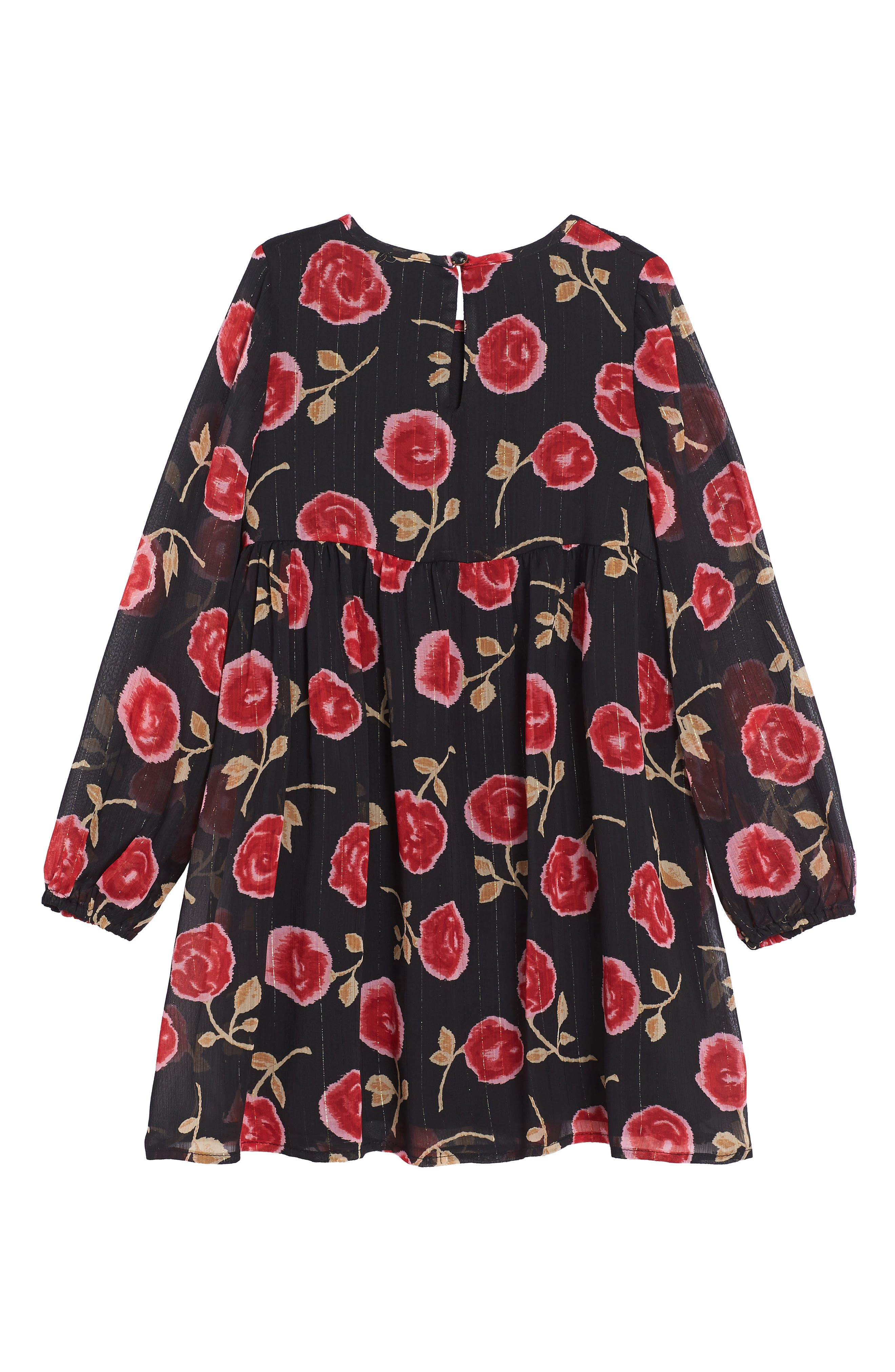 Alternate Image 2  - kate spade new york rose print chiffon dress (Big Girls)
