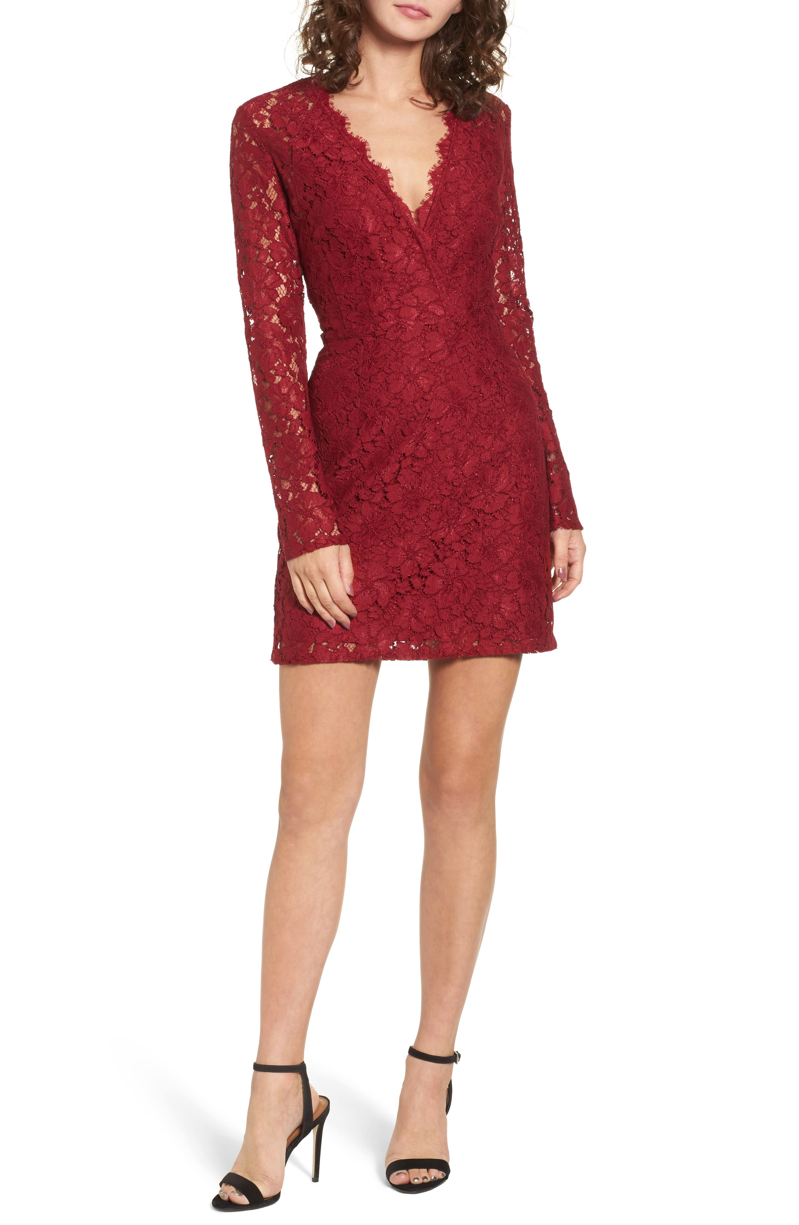 Mimi chica long sleeve lace dress