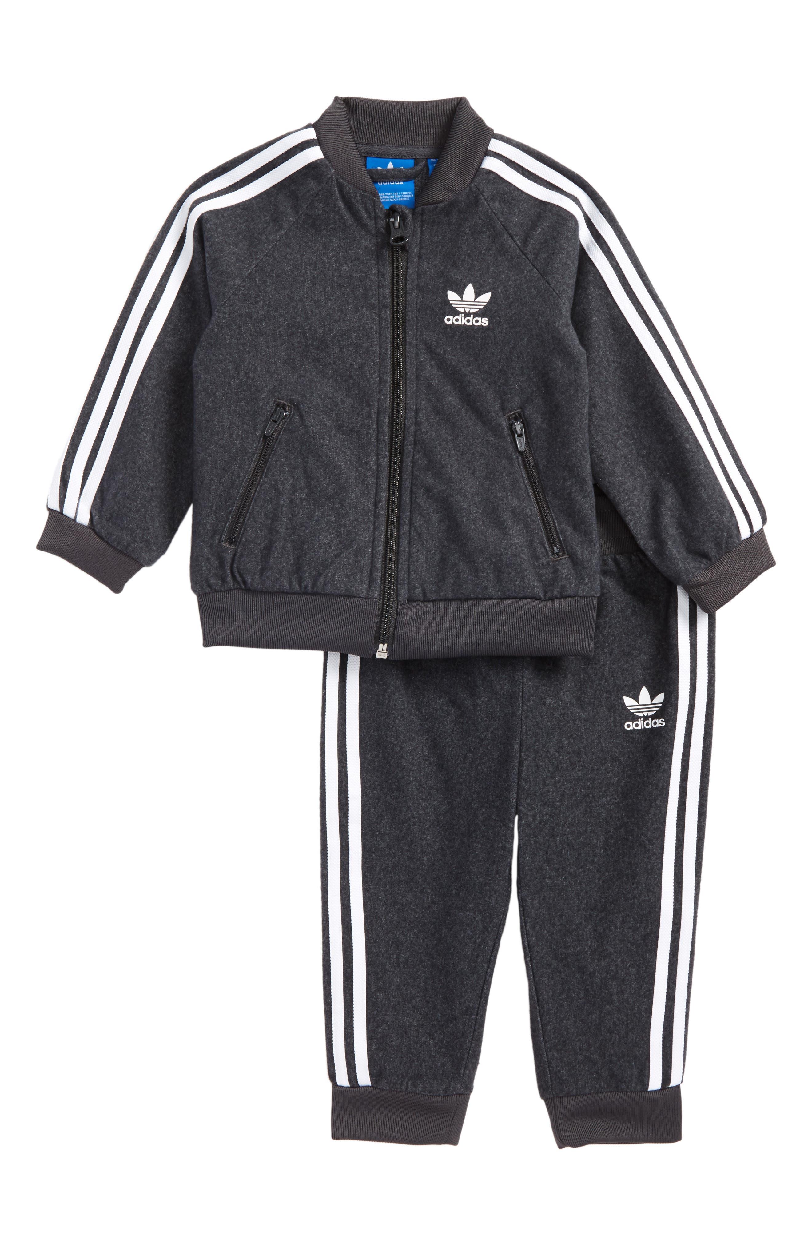 Alternate Image 1 Selected - adidas Originals Superstar Twill Track Jacket & Pants Set (Baby Boys)