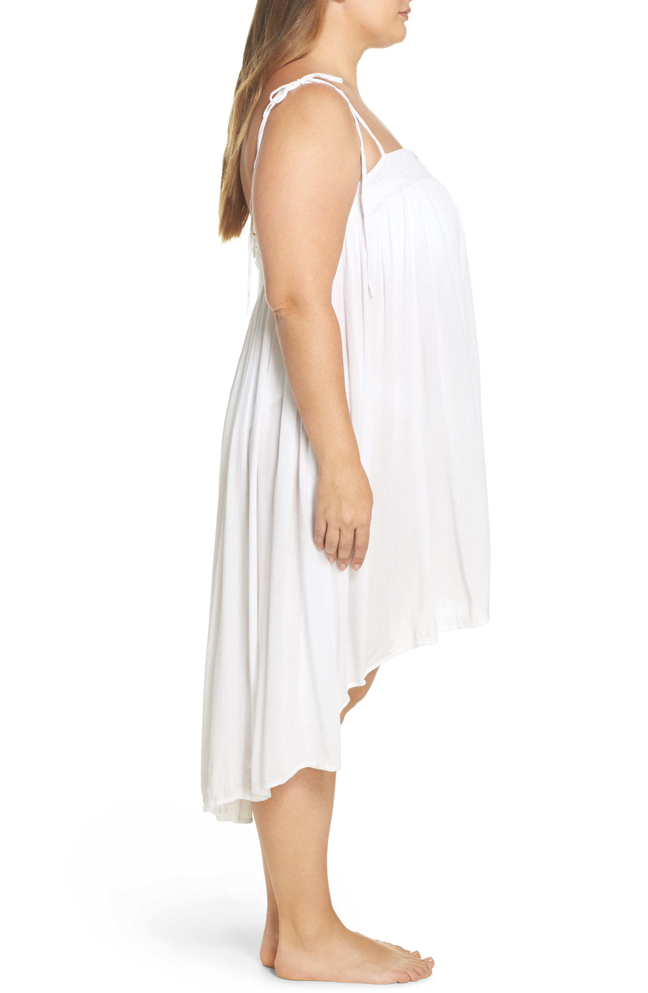 Oliva Cover-Up Dress,                             Alternate thumbnail 3, color,                             White
