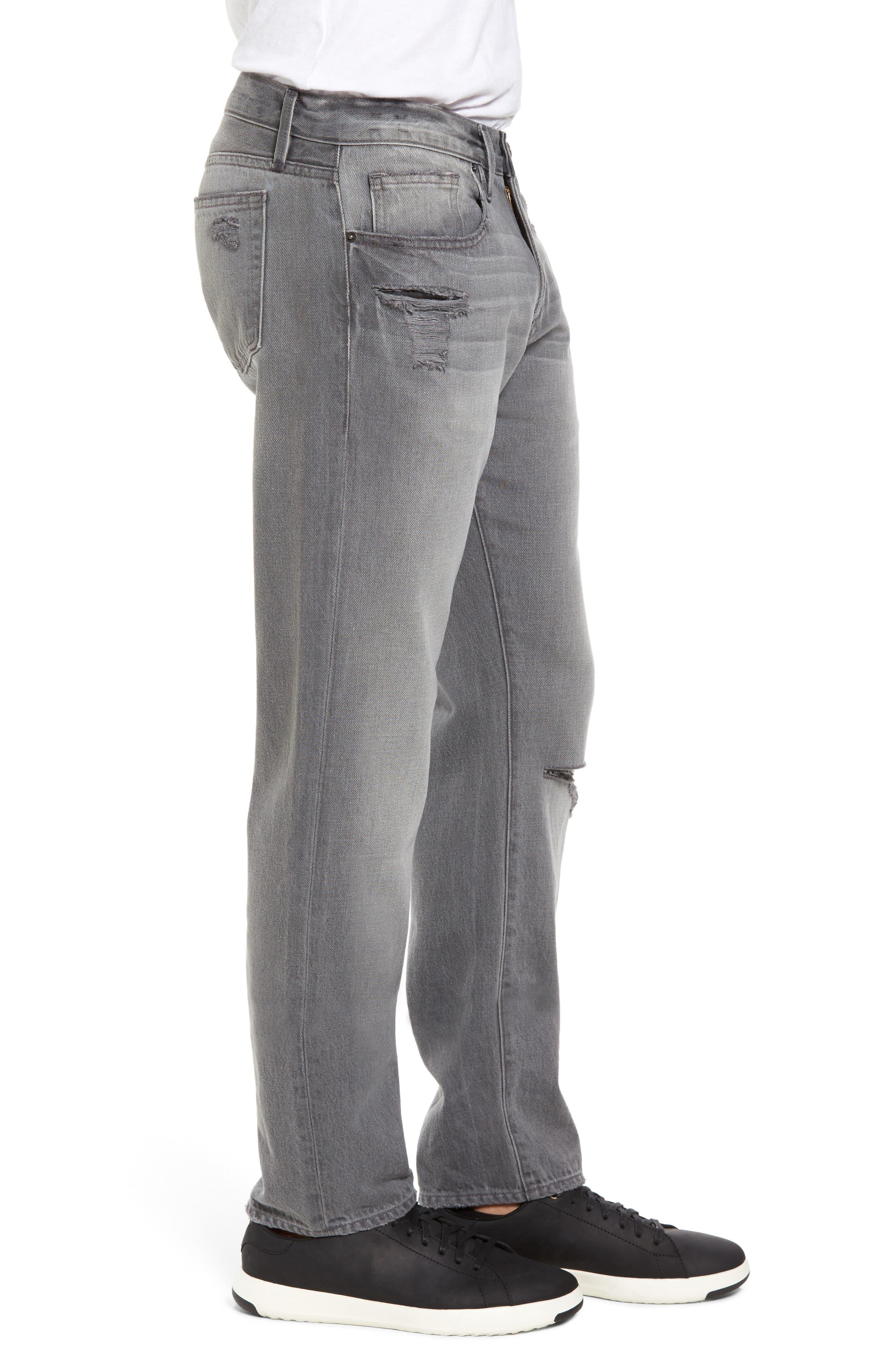 L'Homme Slim Fit Jeans,                             Alternate thumbnail 3, color,                             Grey Fox