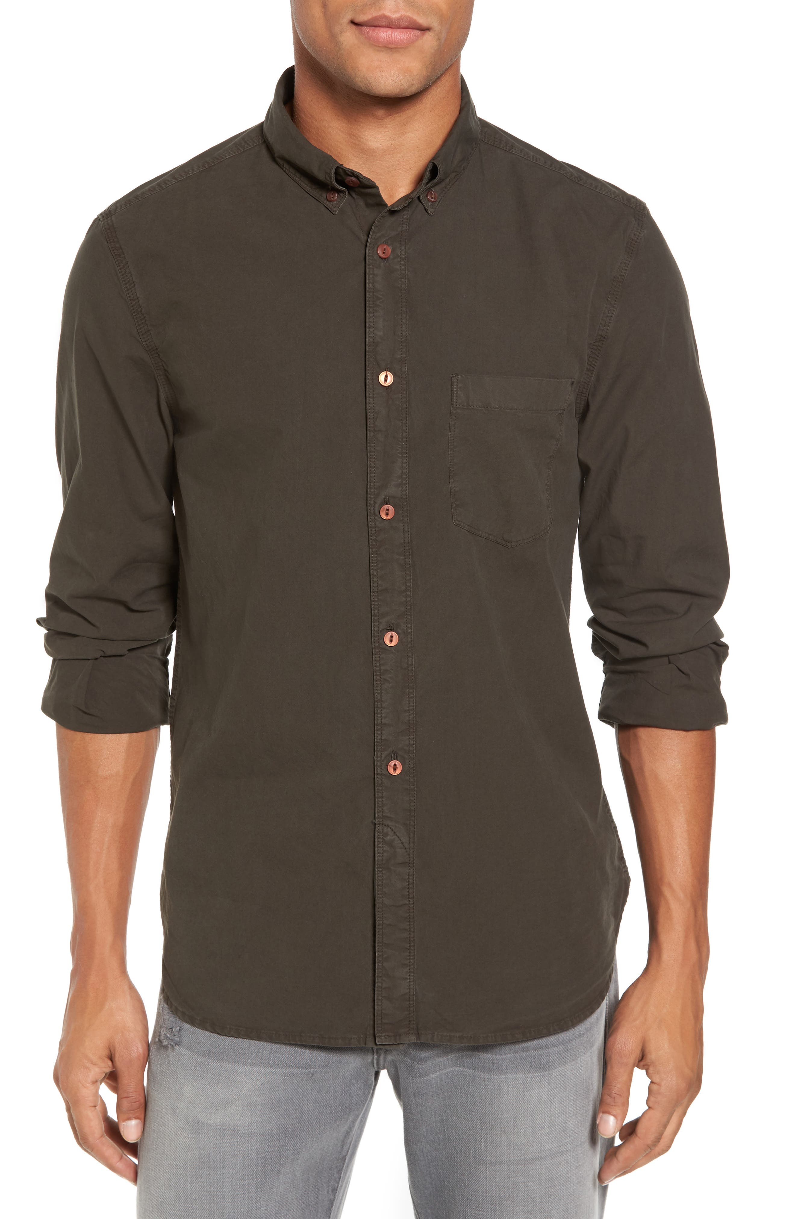 French Connection Peached Oxford Sport Shirt