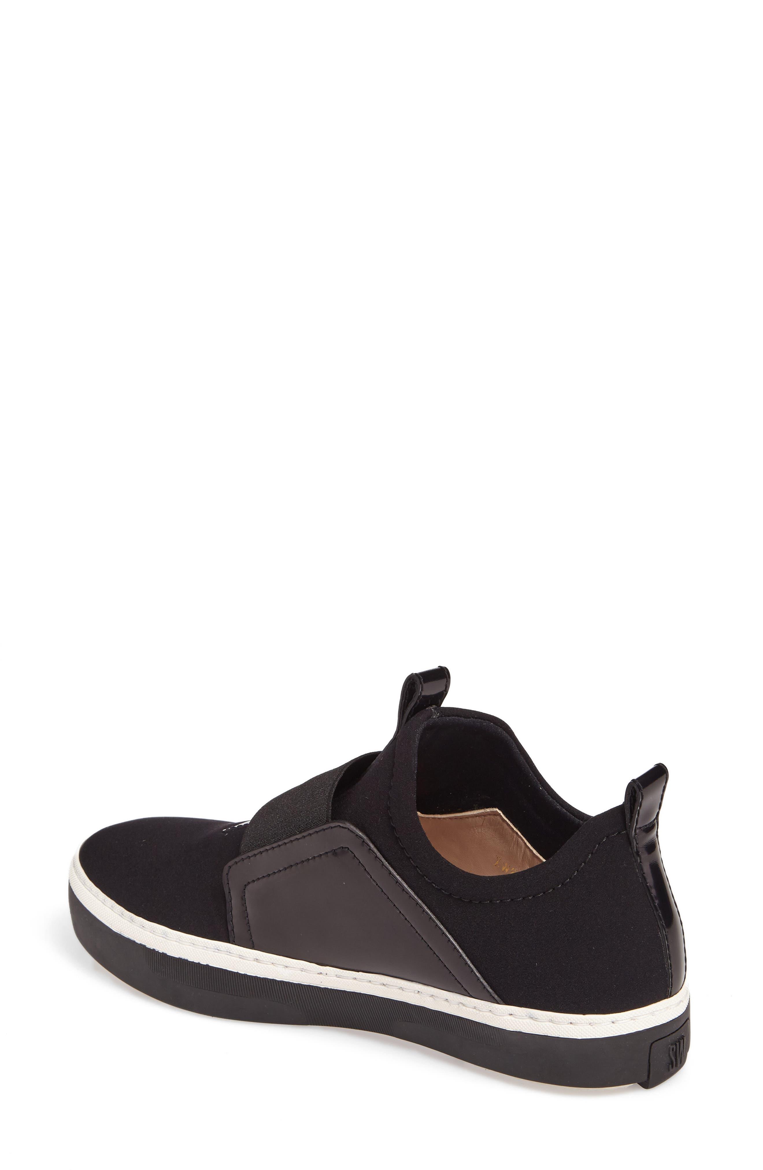 Wayfare Slip-On Sneaker,                             Alternate thumbnail 2, color,                             Black Neoprene