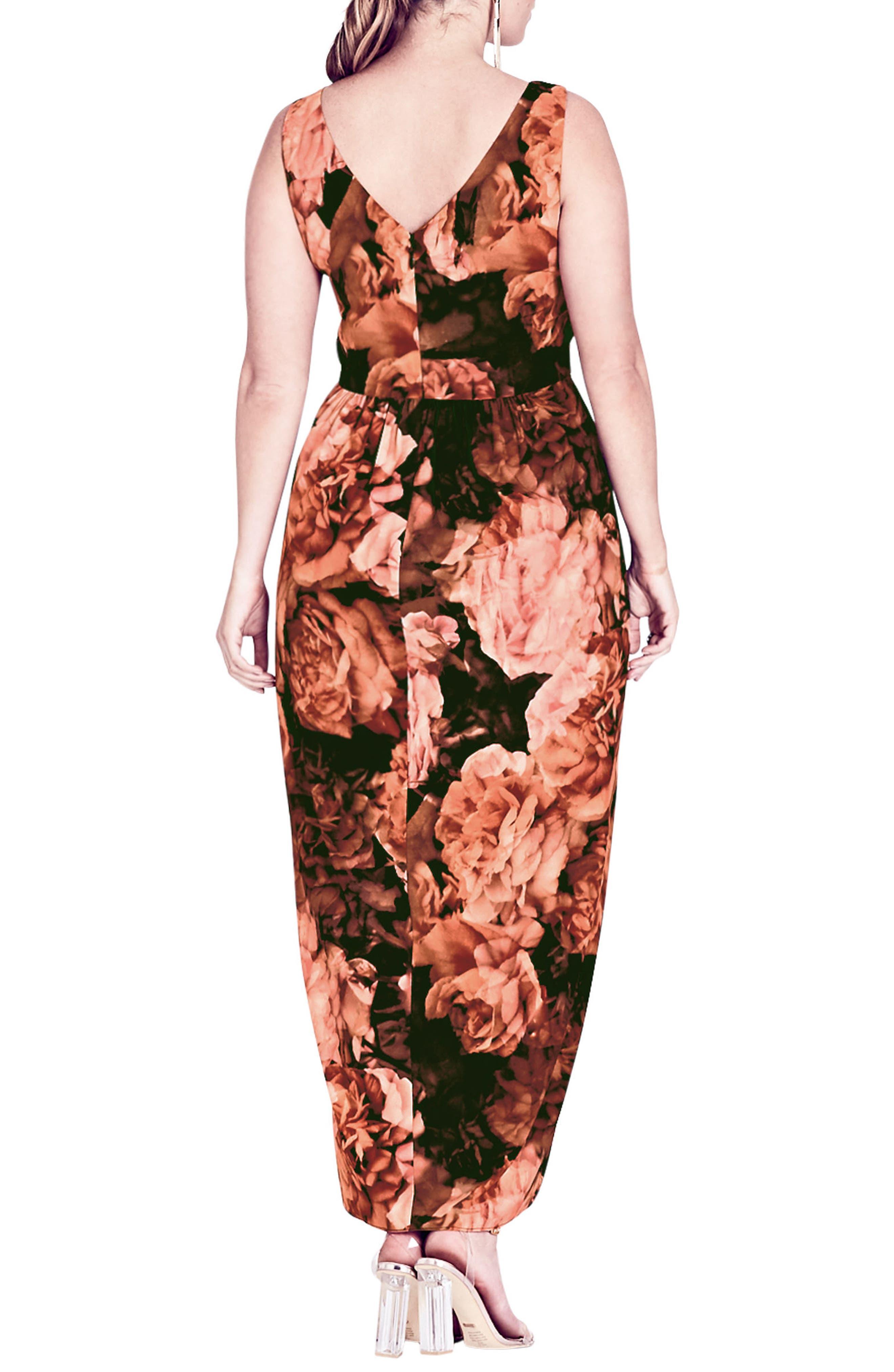 Alternate Image 2  - City Chic Soft Autumn Maxi Dress (Plus Size)
