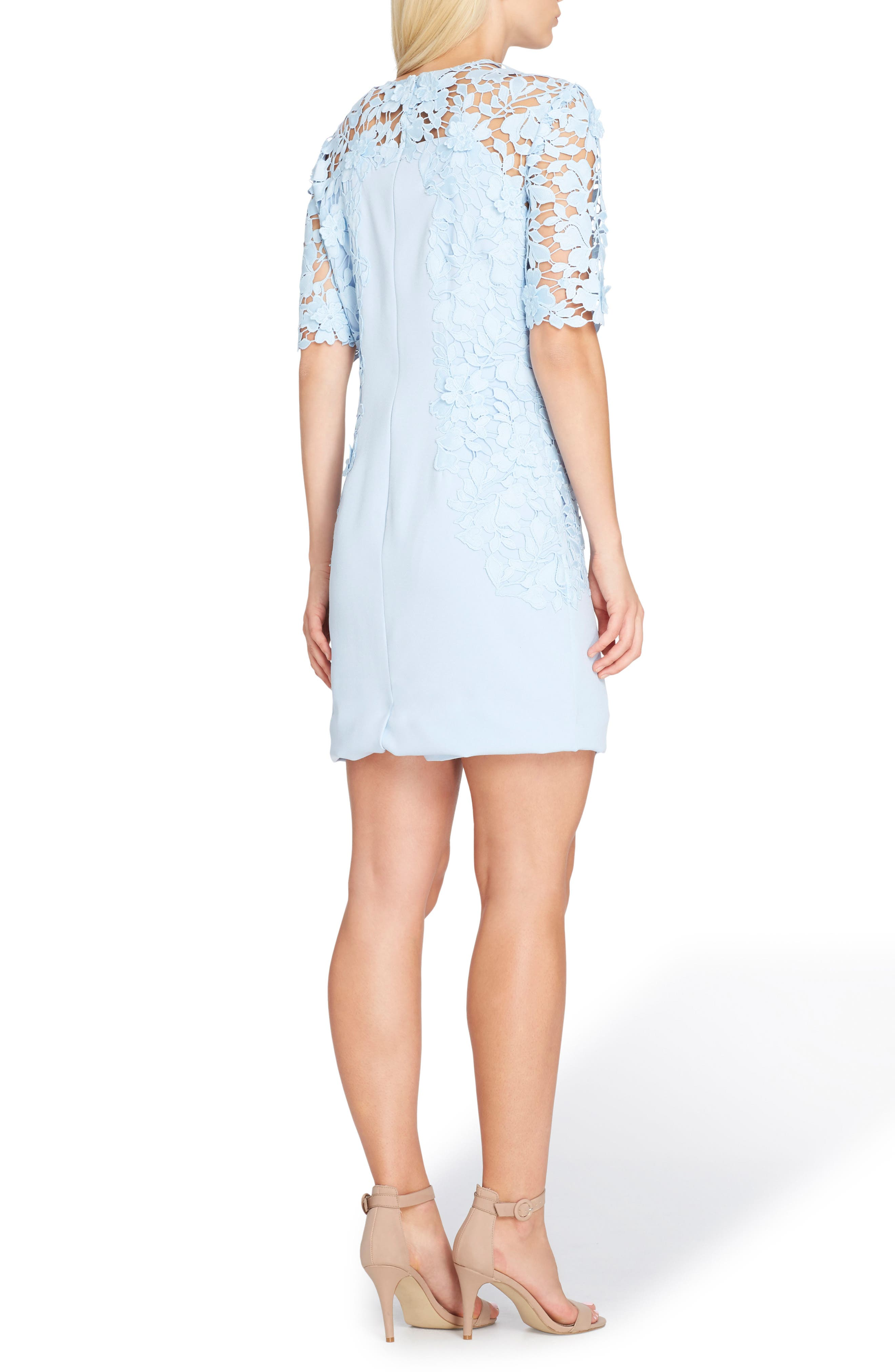 Lace Sheath Dress,                             Alternate thumbnail 2, color,                             Ice Blue