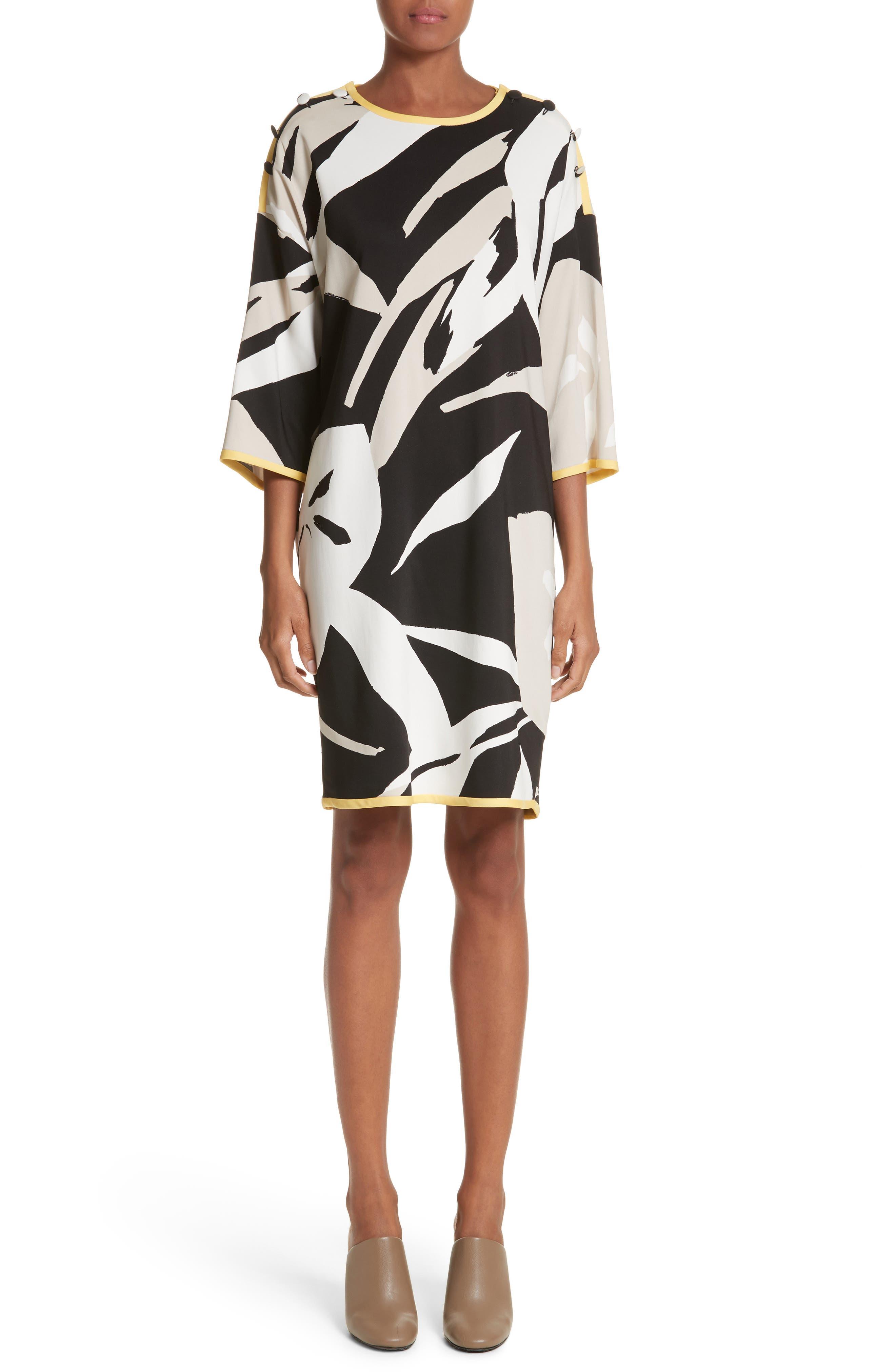Max Mara Leva Print Shift Dress