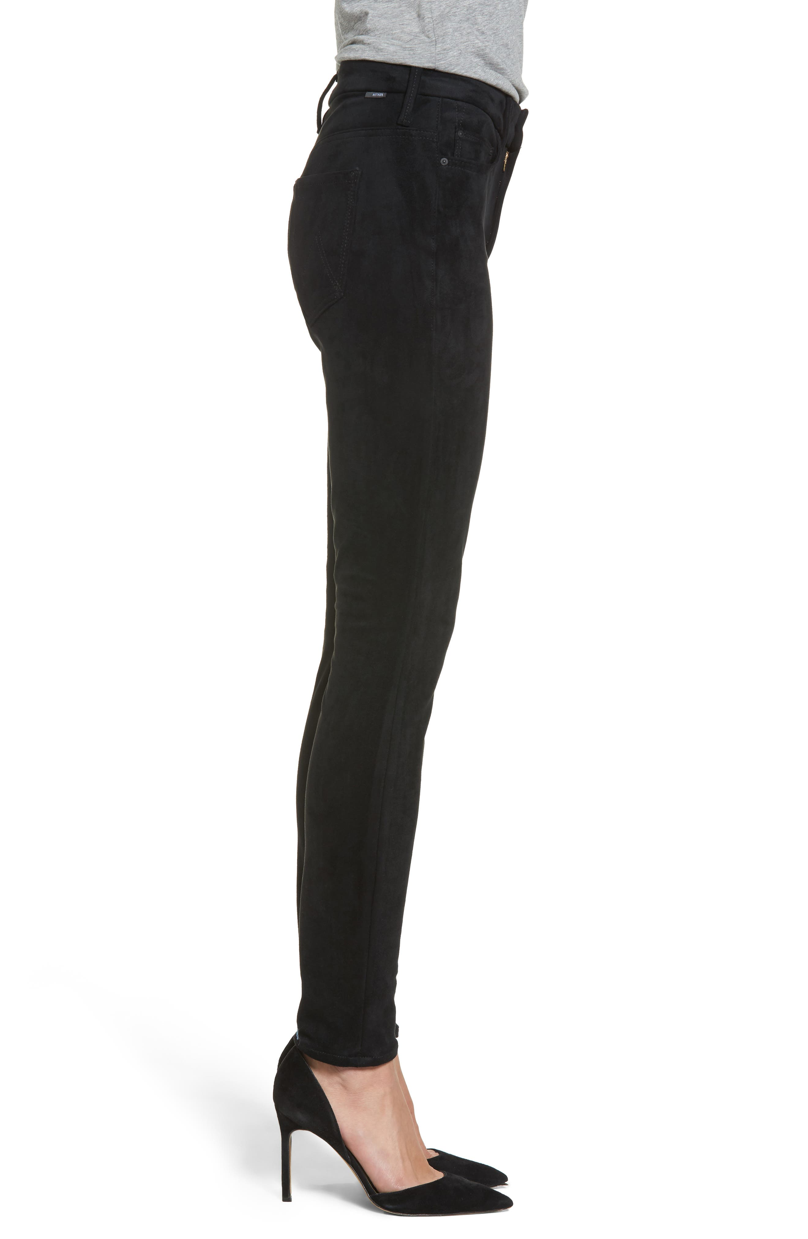 Alternate Image 3  - MOTHER The Looker High Waist Ankle Skinny Jeans (Tricks of the Trade)