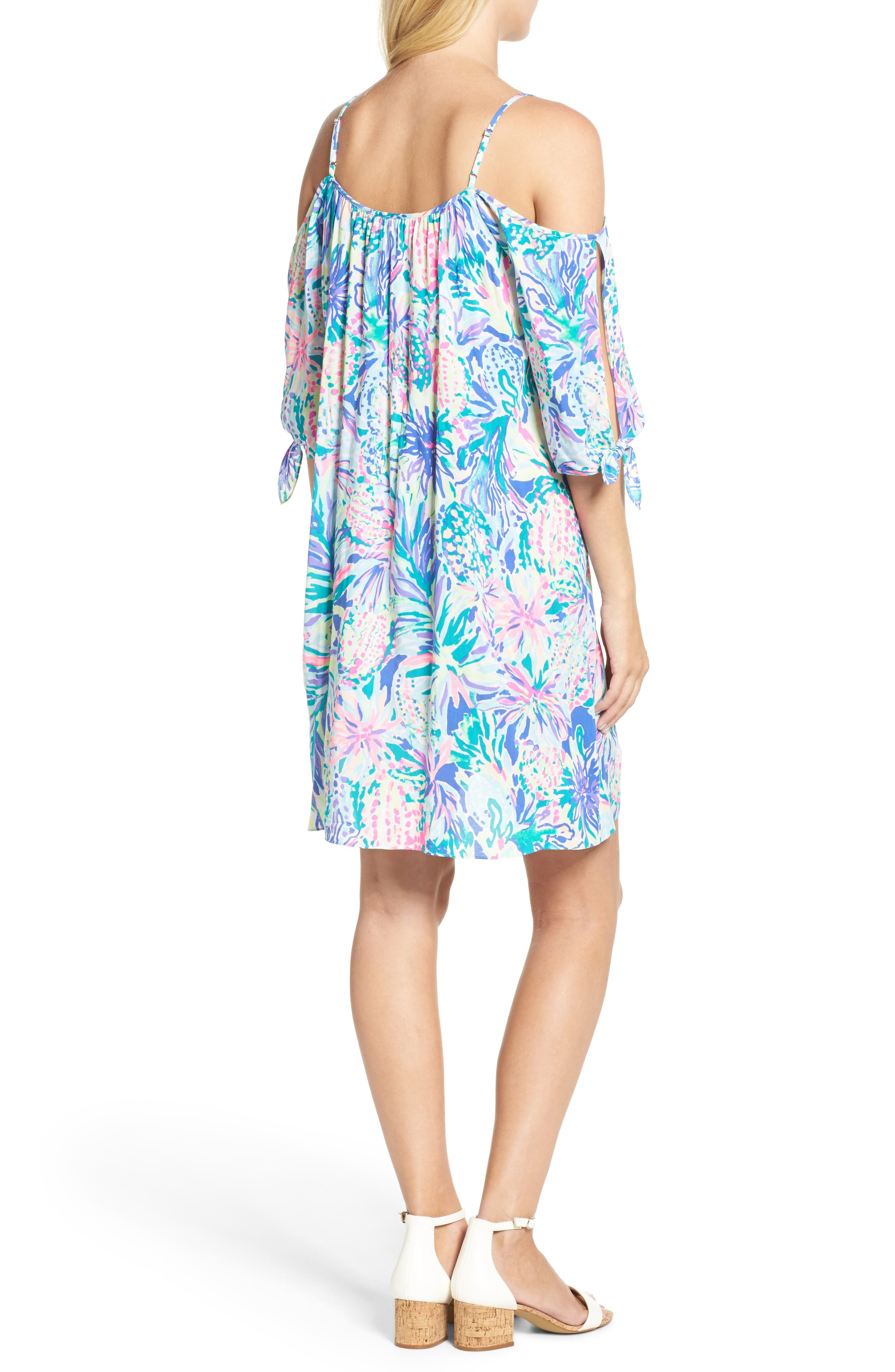 Alanna Cold Shoulder Dress,                             Alternate thumbnail 2, color,                             Multi Juniper