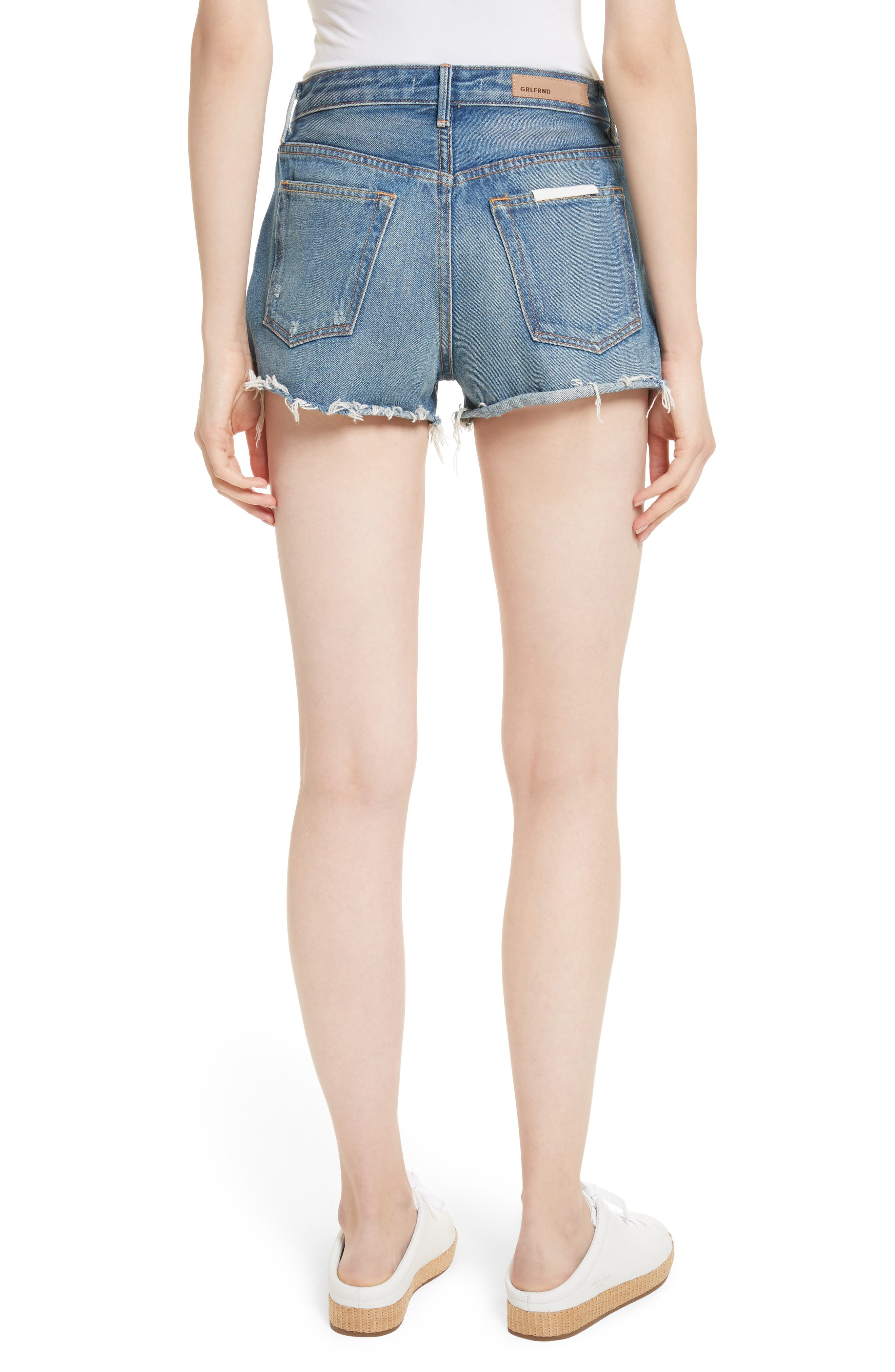 Alternate Image 2  - GRLFRND Cindy Rigid High Waist Denim Shorts (Nobody Does It Better)