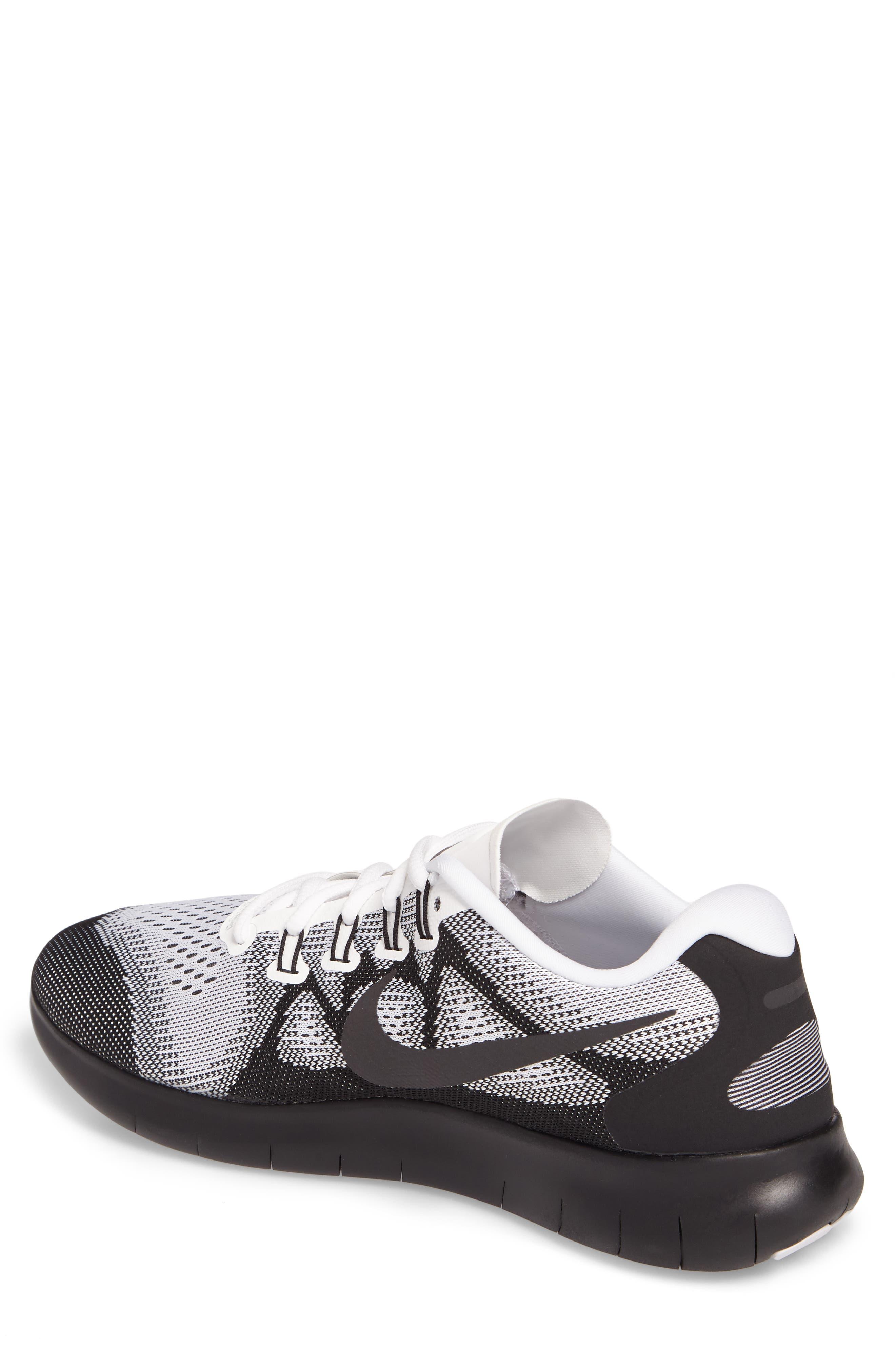 Free RN 2017 LE Running Shoe,                             Alternate thumbnail 2, color,                             Black/Black/White