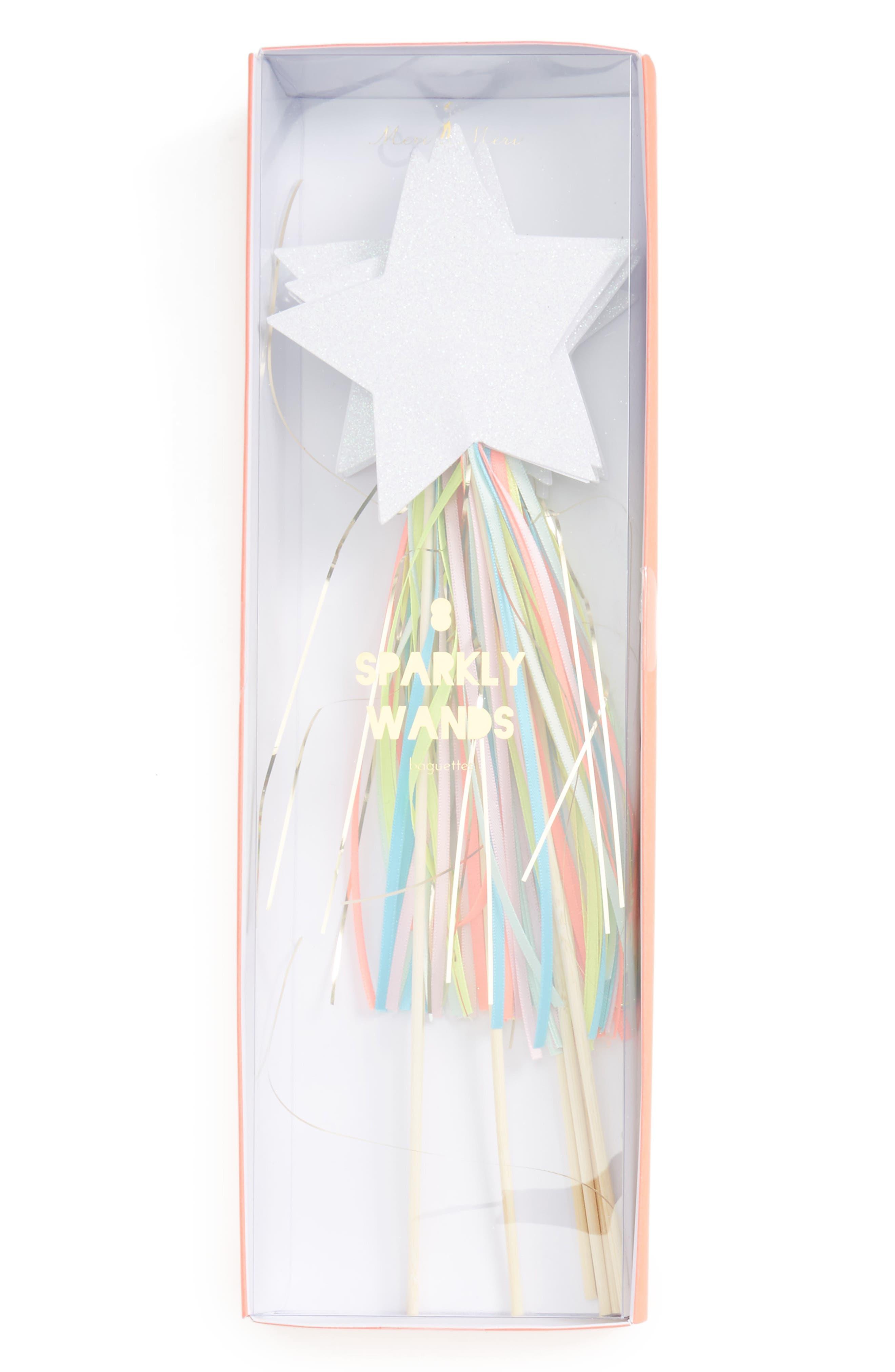 Main Image - Meri Meri Set of 8 Sparkly Wands (Girls)