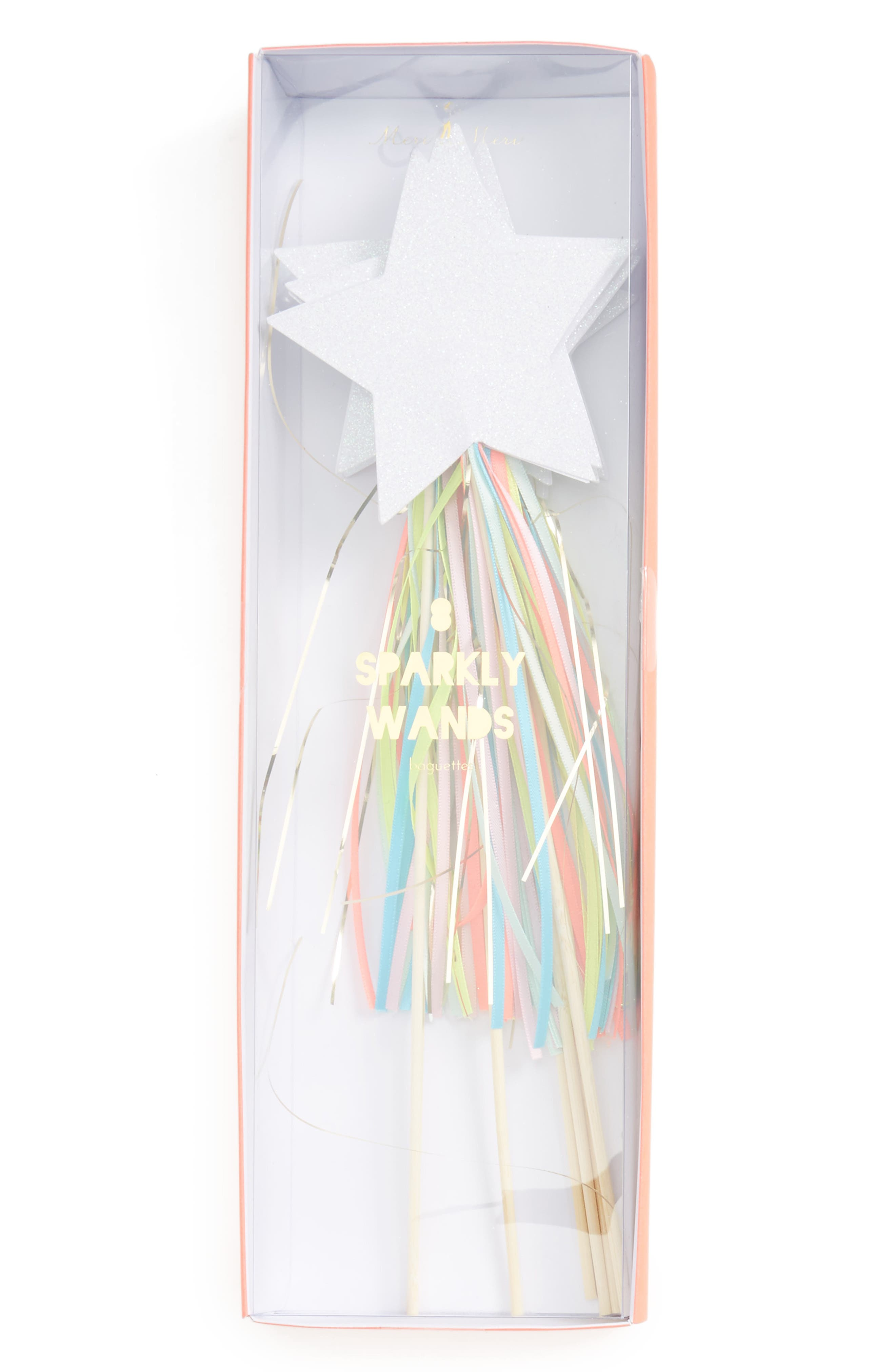 Meri Meri Set of 8 Sparkly Wands (Girls)