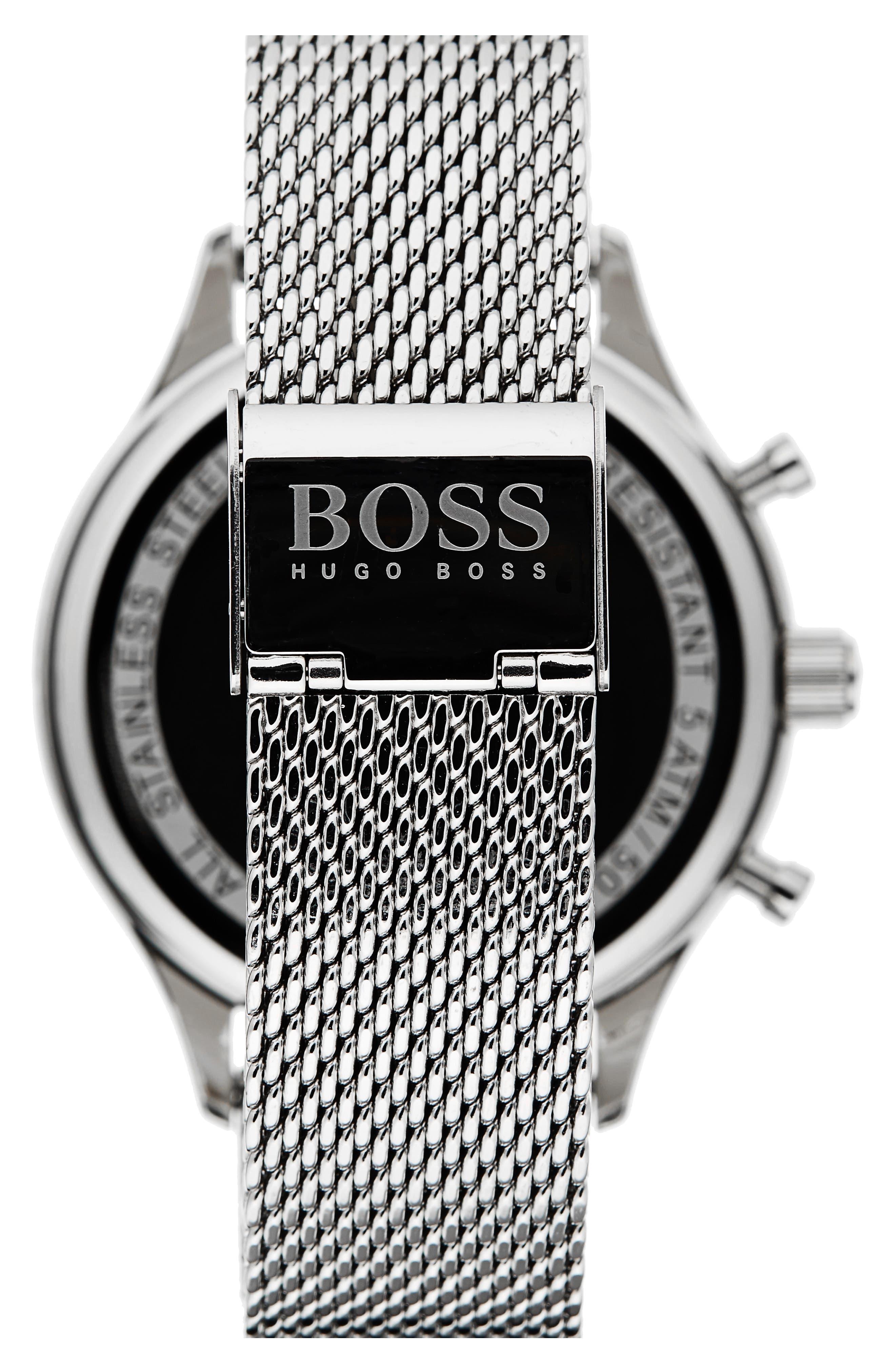 Companion Chronograph Mesh Bracelet Watch, 42mm,                             Alternate thumbnail 2, color,                             Gunmetal/ Stainless Steel