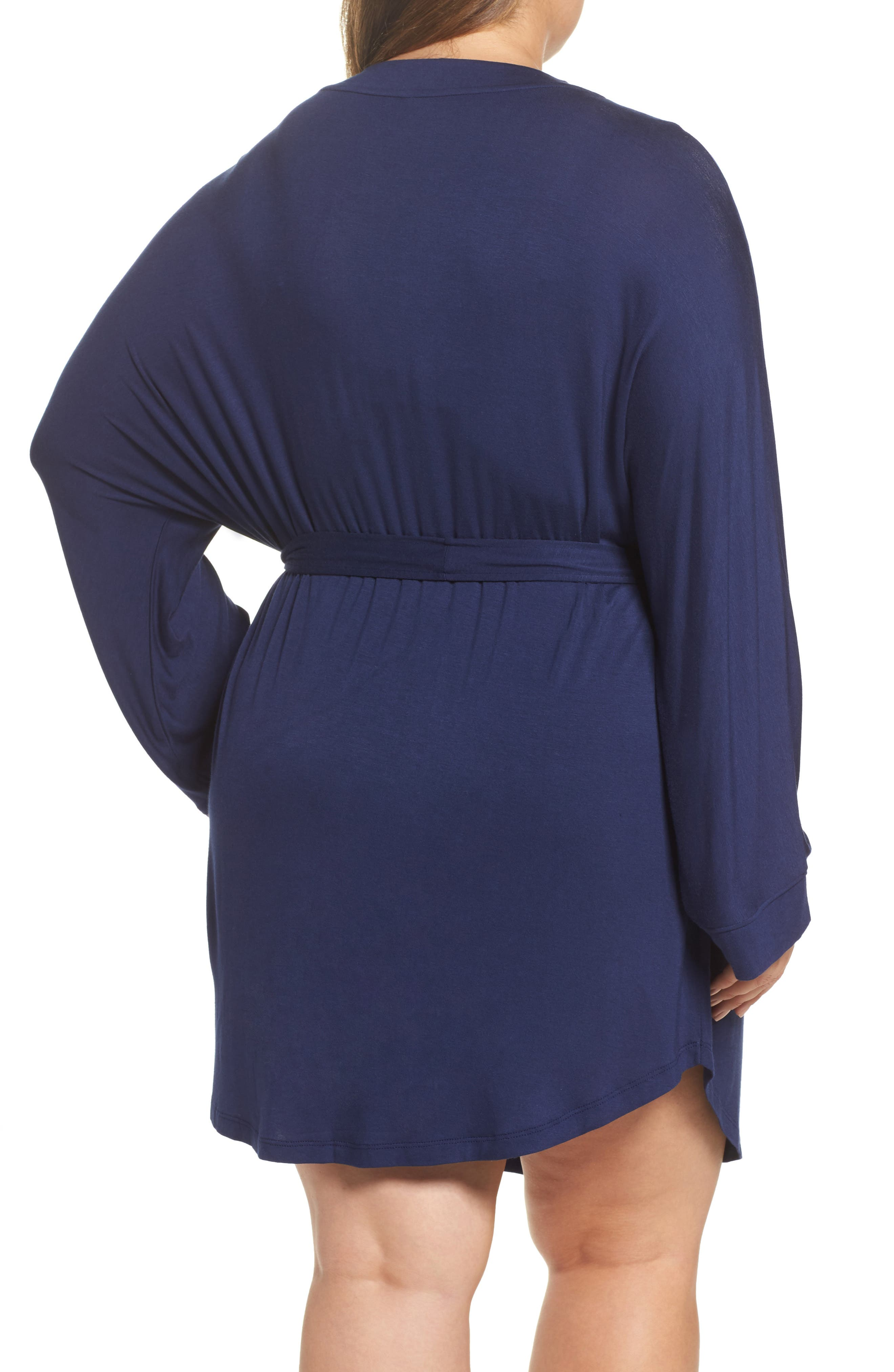 All American Jersey Robe,                             Alternate thumbnail 2, color,                             Navy