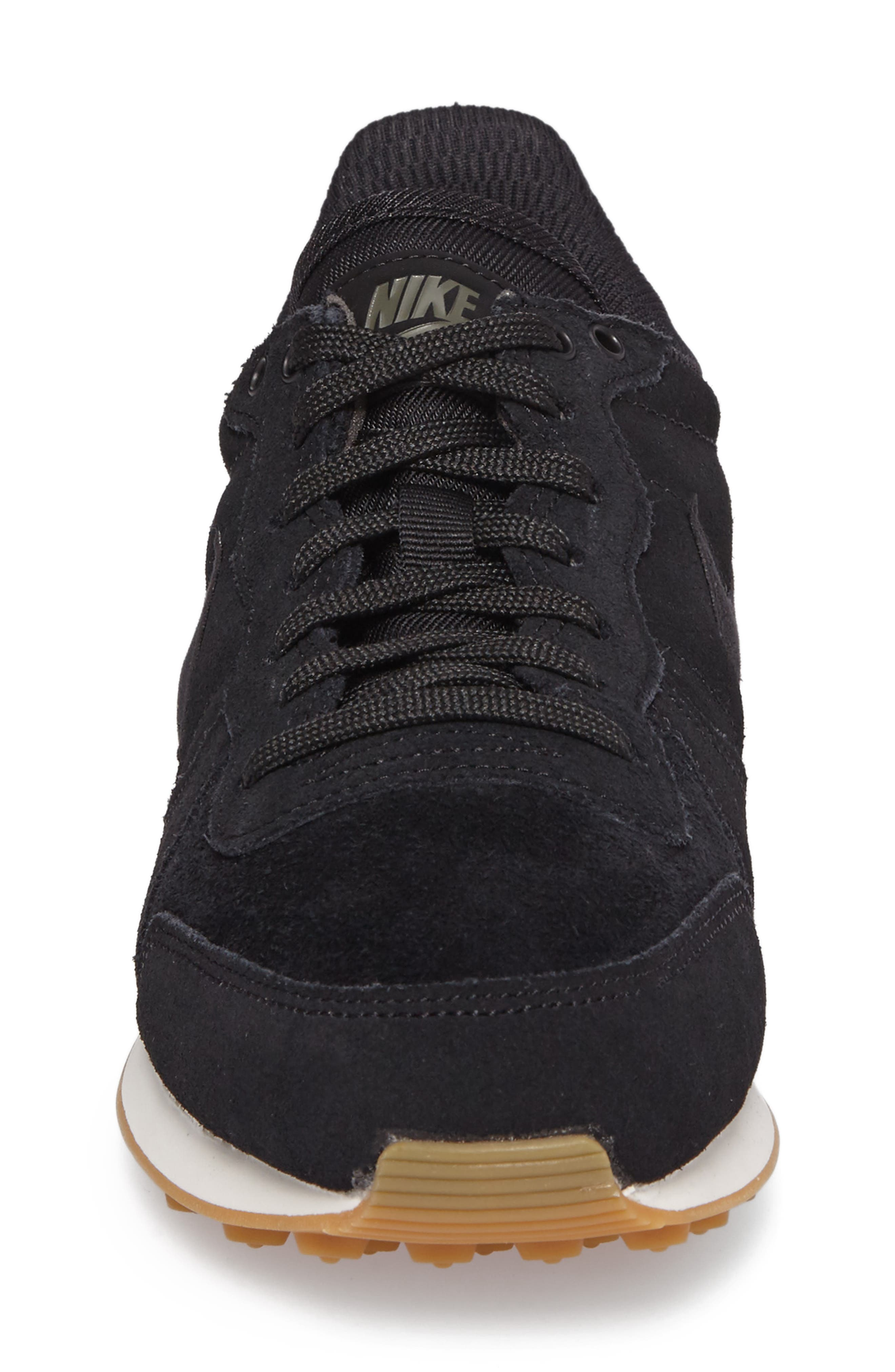 Internationalist SE Sneaker,                             Alternate thumbnail 4, color,                             Black/ Black/ Green/ Brown