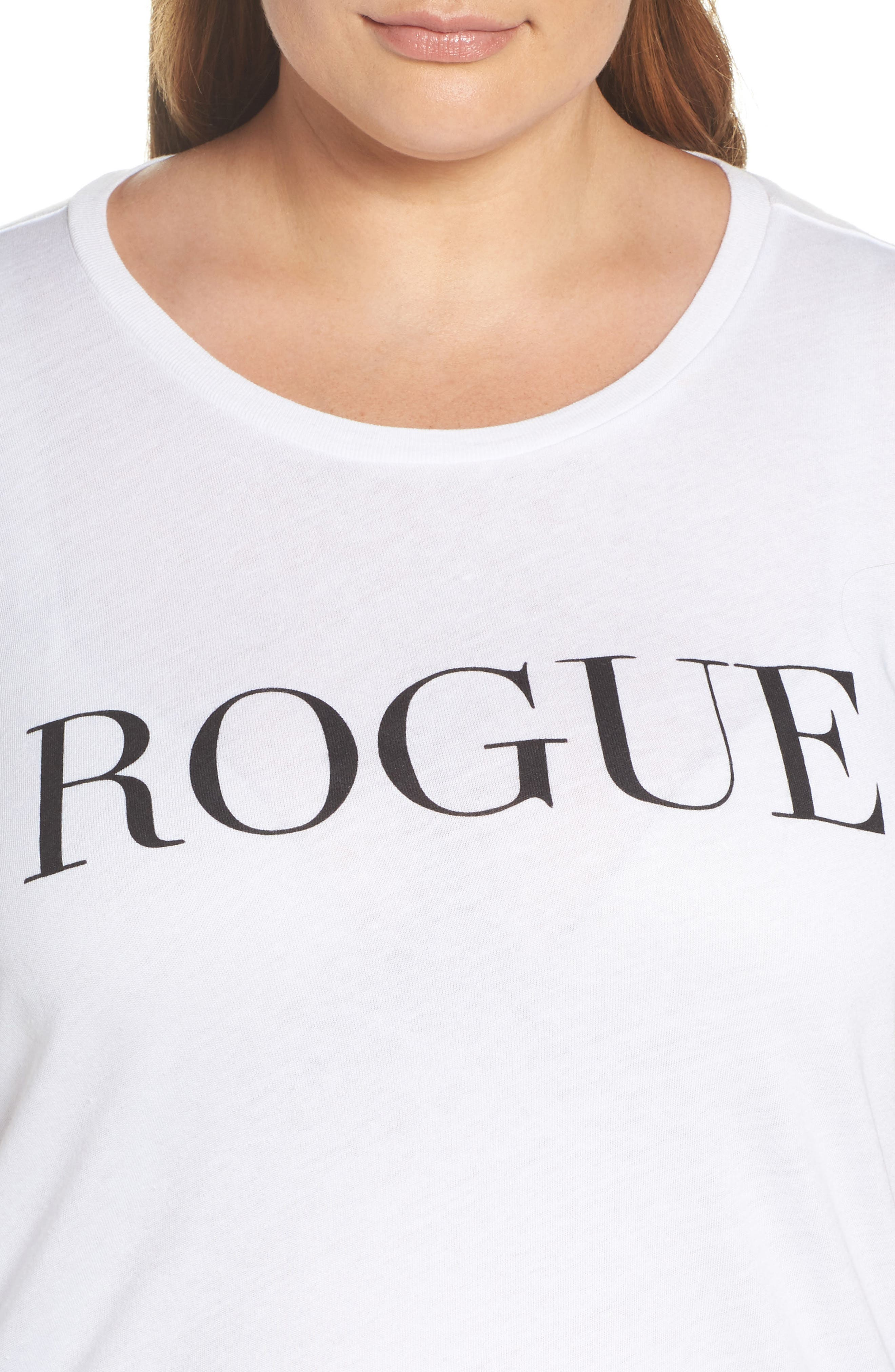 Alternate Image 4  - Sub_Urban Riot Rogue Graphic Tee (Plus Size)