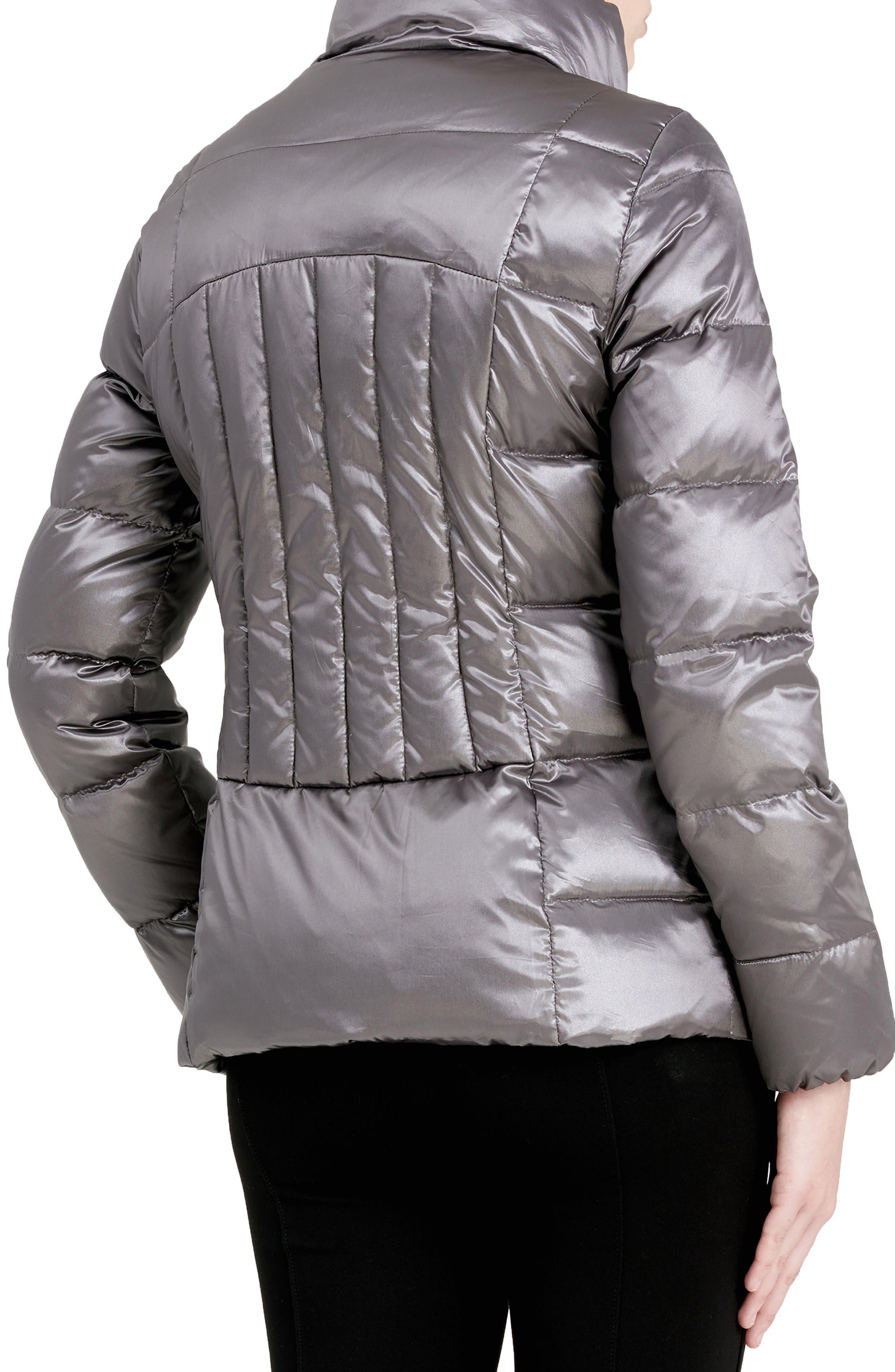 Asymmetrical Zip Down Jacket,                             Alternate thumbnail 2, color,                             Shine Granite