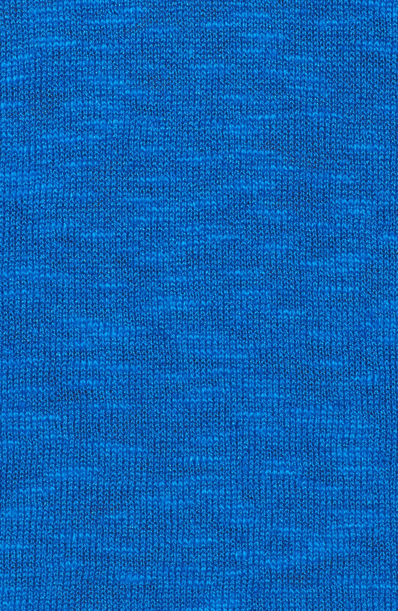 Organic Linen & Cotton V-Neck Sweater,                             Alternate thumbnail 5, color,                             Catalina