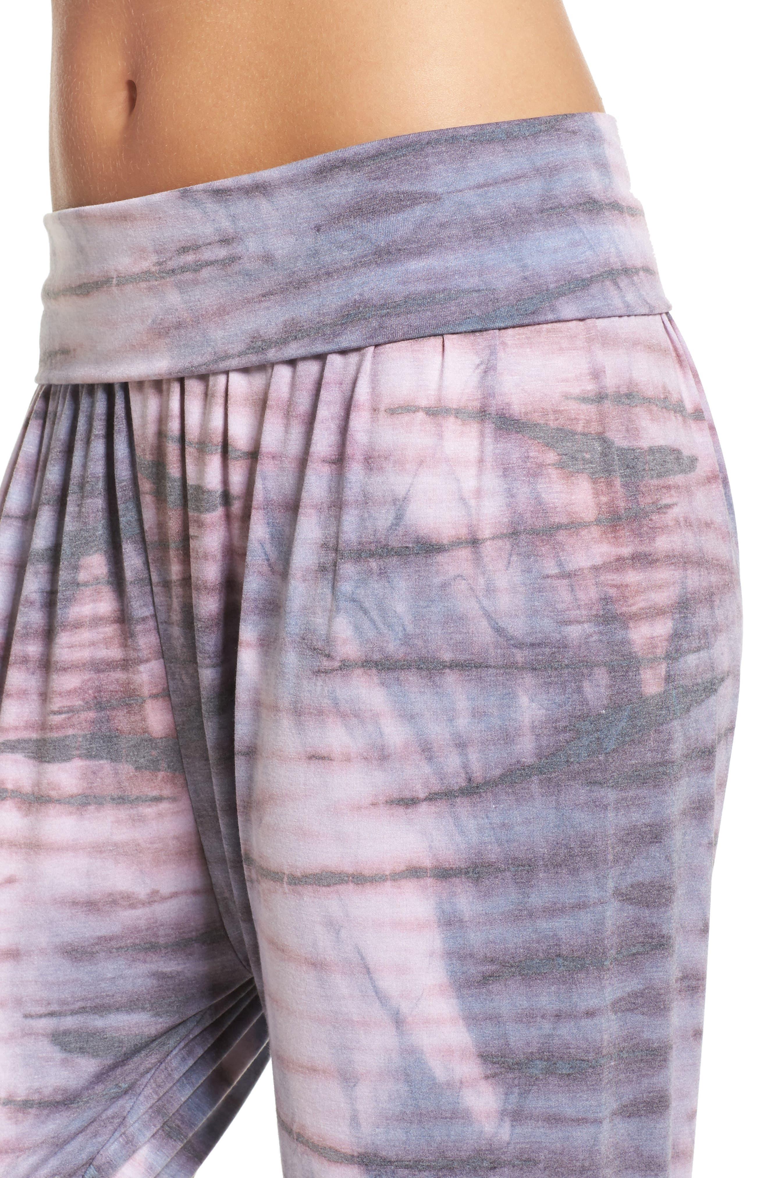 Harem Pants,                             Alternate thumbnail 4, color,                             Blush Tie Dye