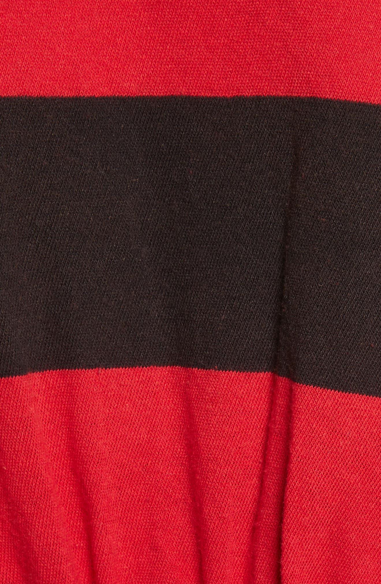Yuki Oversize Polo,                             Alternate thumbnail 5, color,                             Red