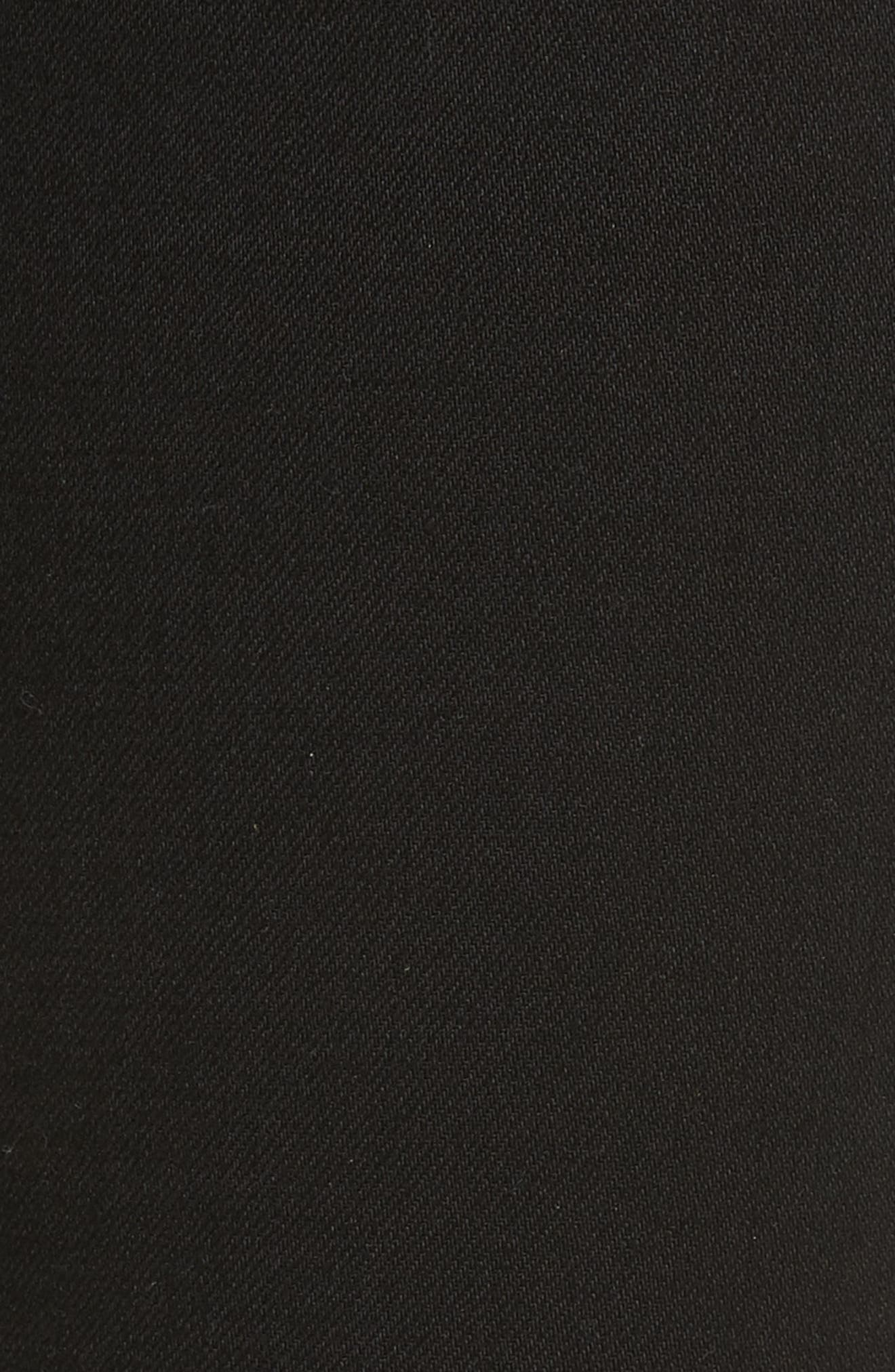 Mito High Waist Skinny Jeans,                             Alternate thumbnail 5, color,                             Black