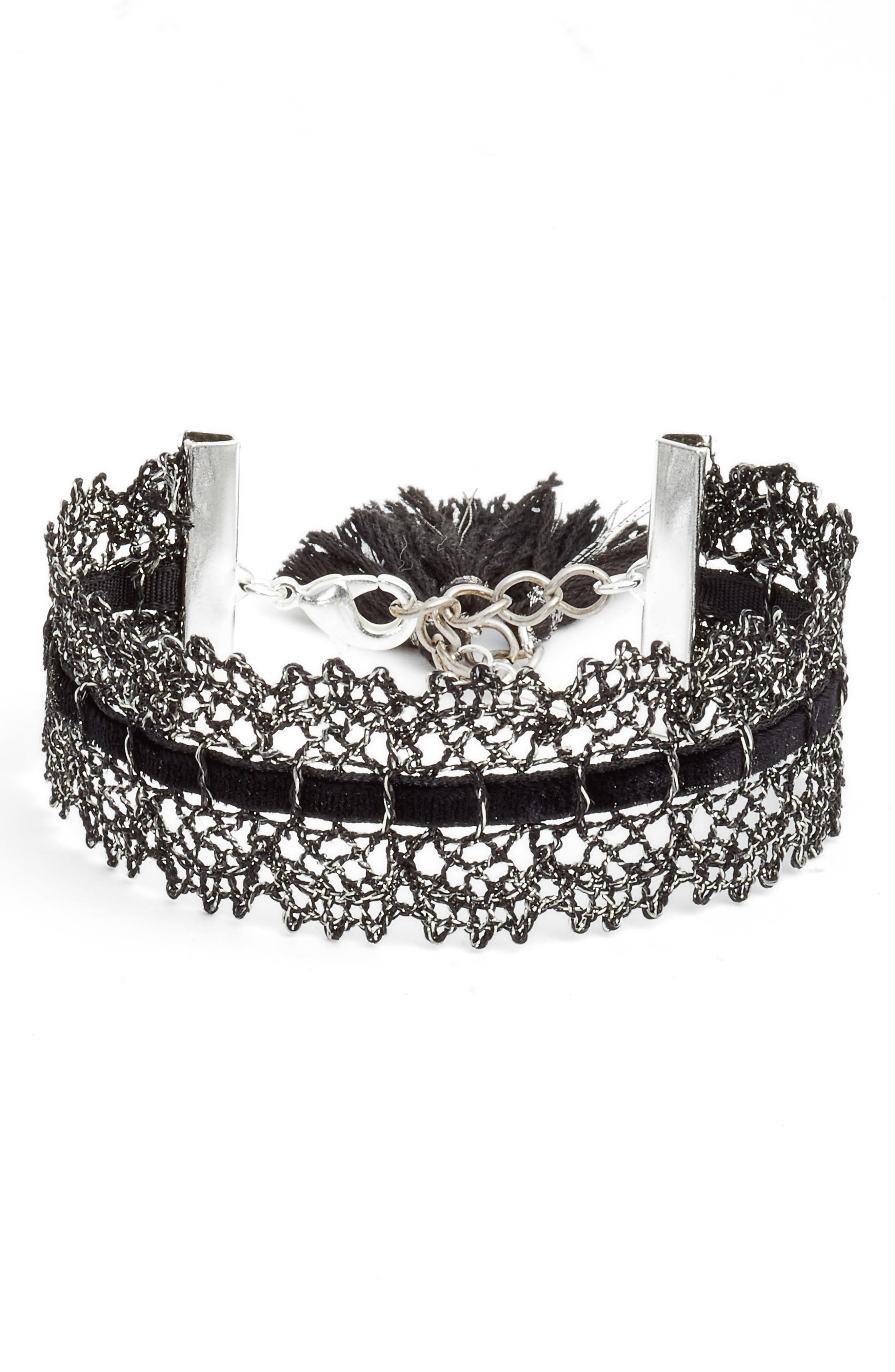 Main Image - Chan Luu Black Lace Bracelet