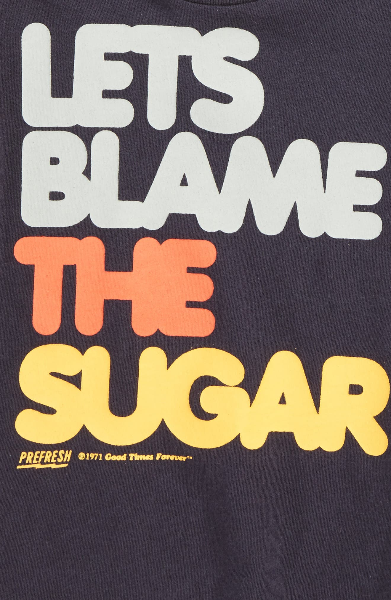 Let's Blame The Sugar Graphic T-Shirt,                             Alternate thumbnail 2, color,                             Graphite