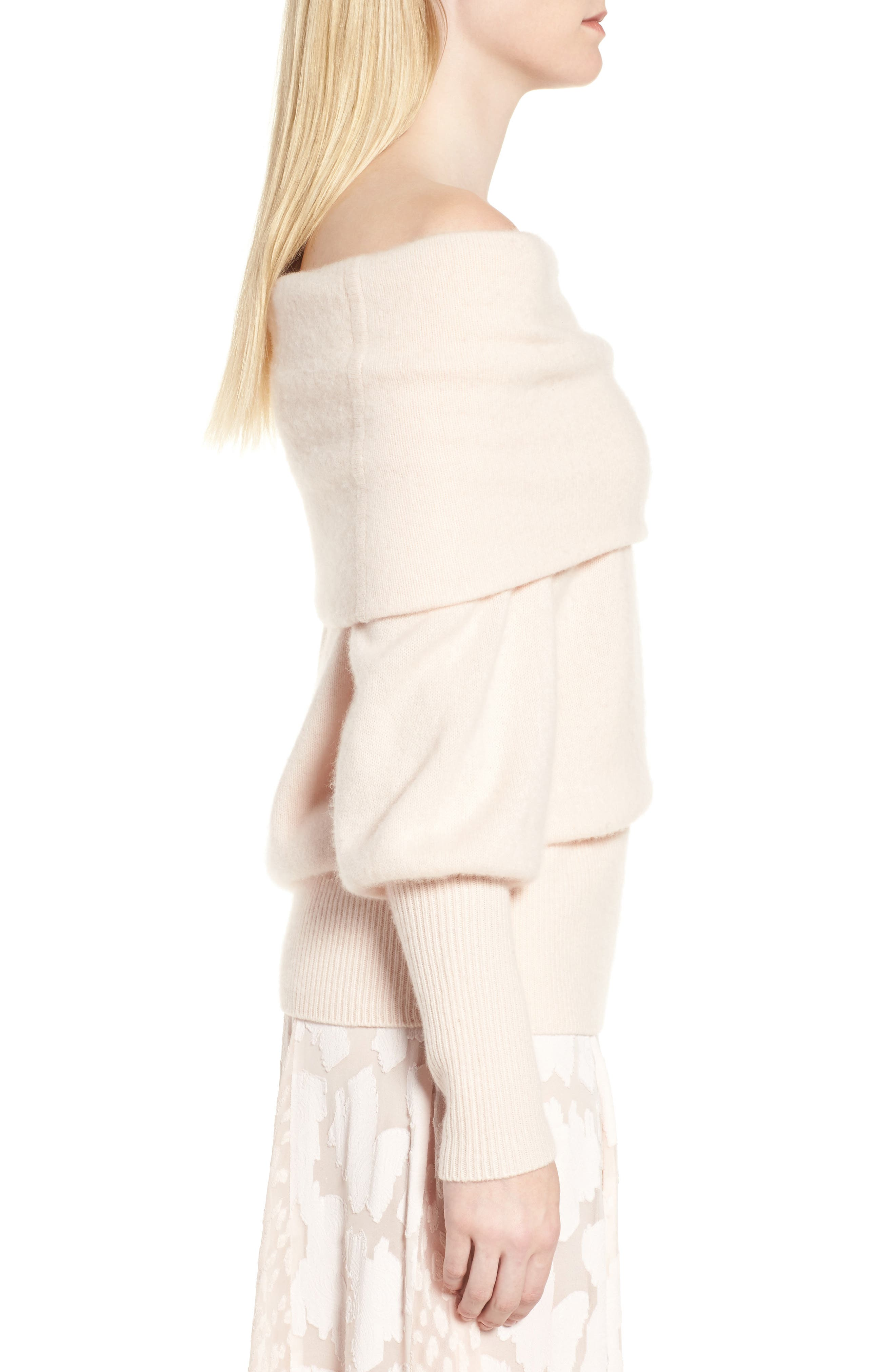 Alternate Image 3  - Lewit Convertible Neck Cashmere Sweater