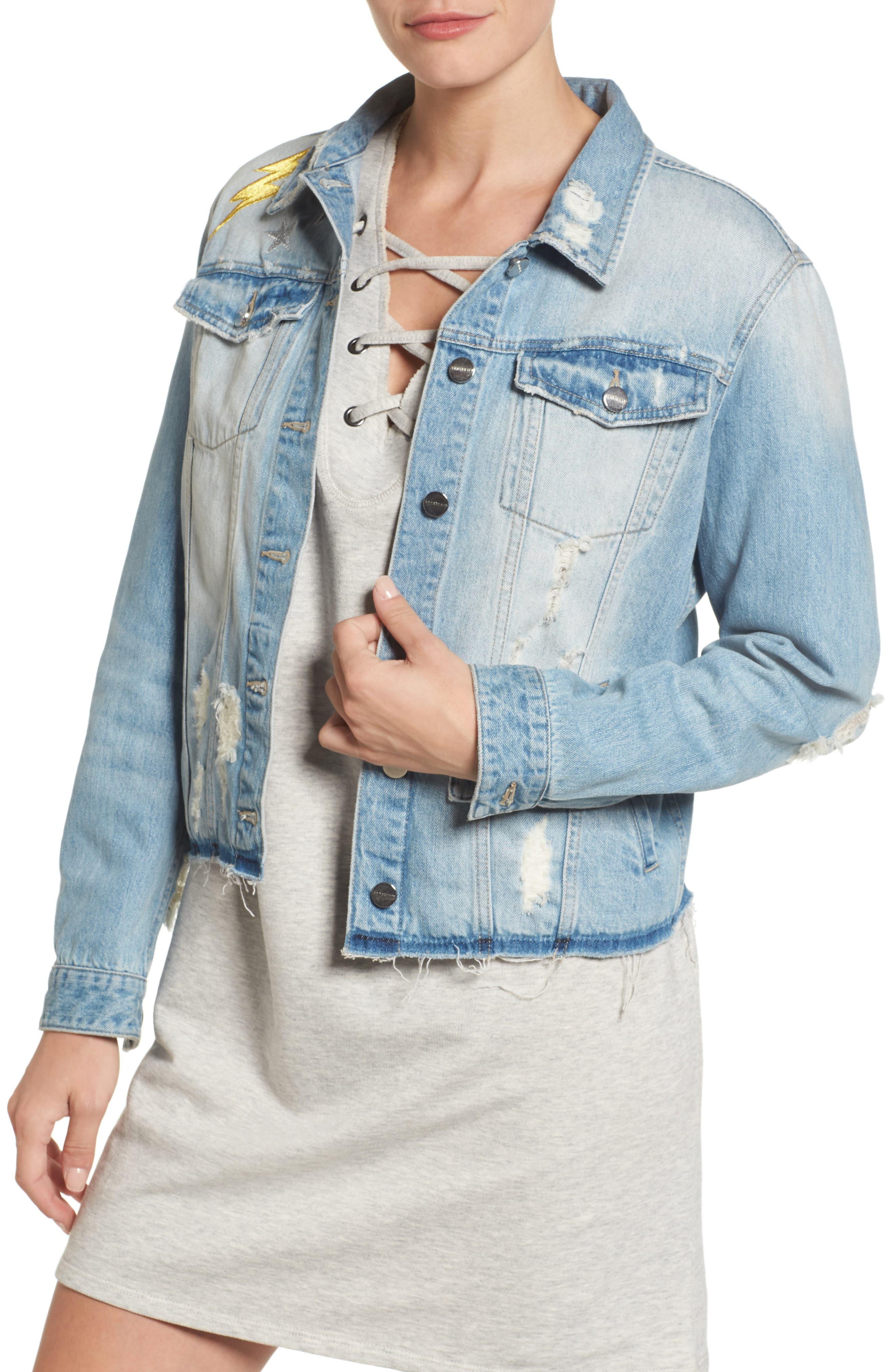 Milkyway Walker Denim Jacket,                         Main,                         color, Margaux Wash