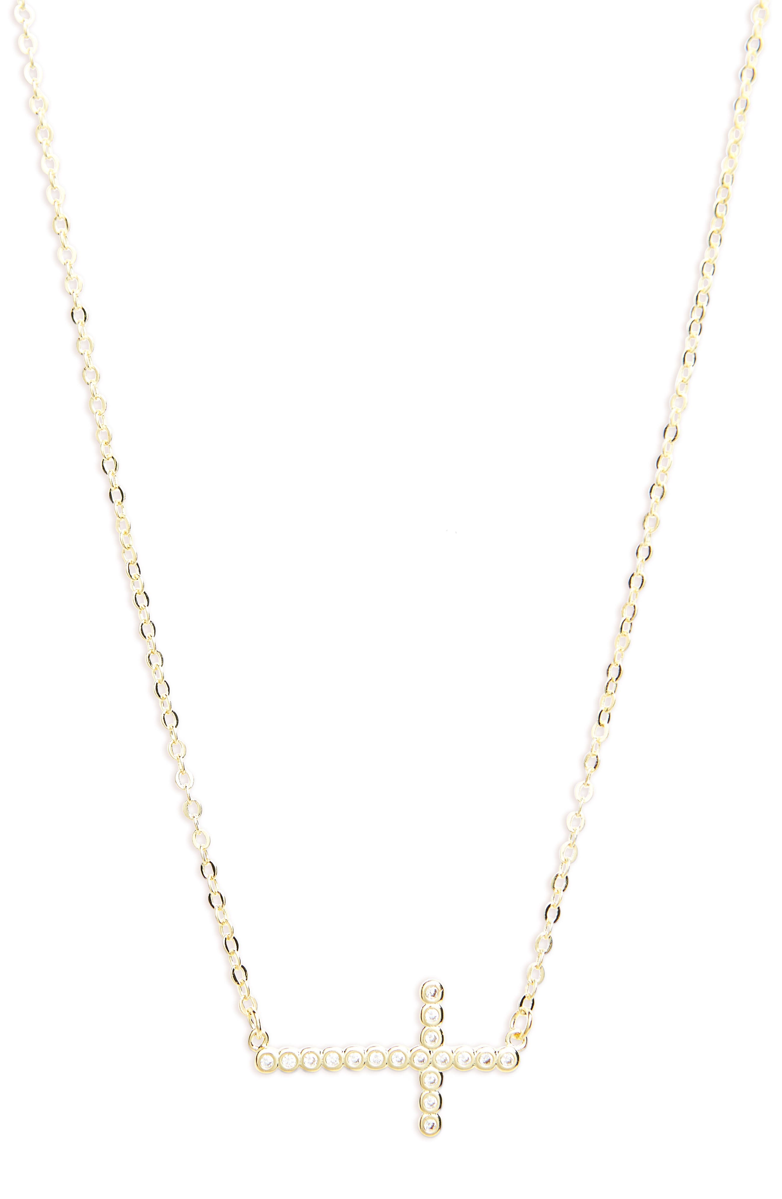 Alternate Image 1 Selected - Melinda Maria Cubic Zirconia Cross Necklace