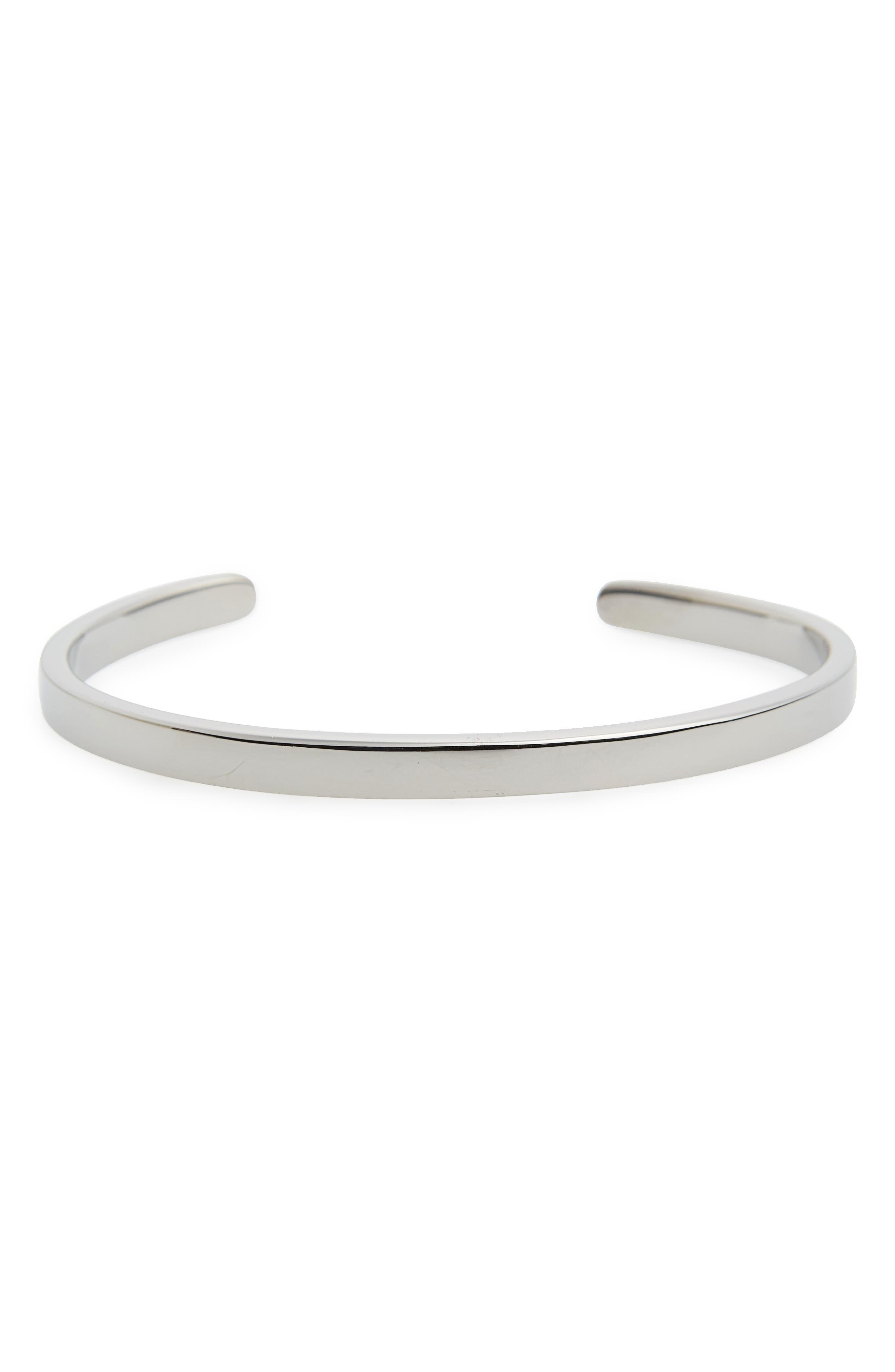 Singular Cuff,                         Main,                         color, Polished Black/ Silver