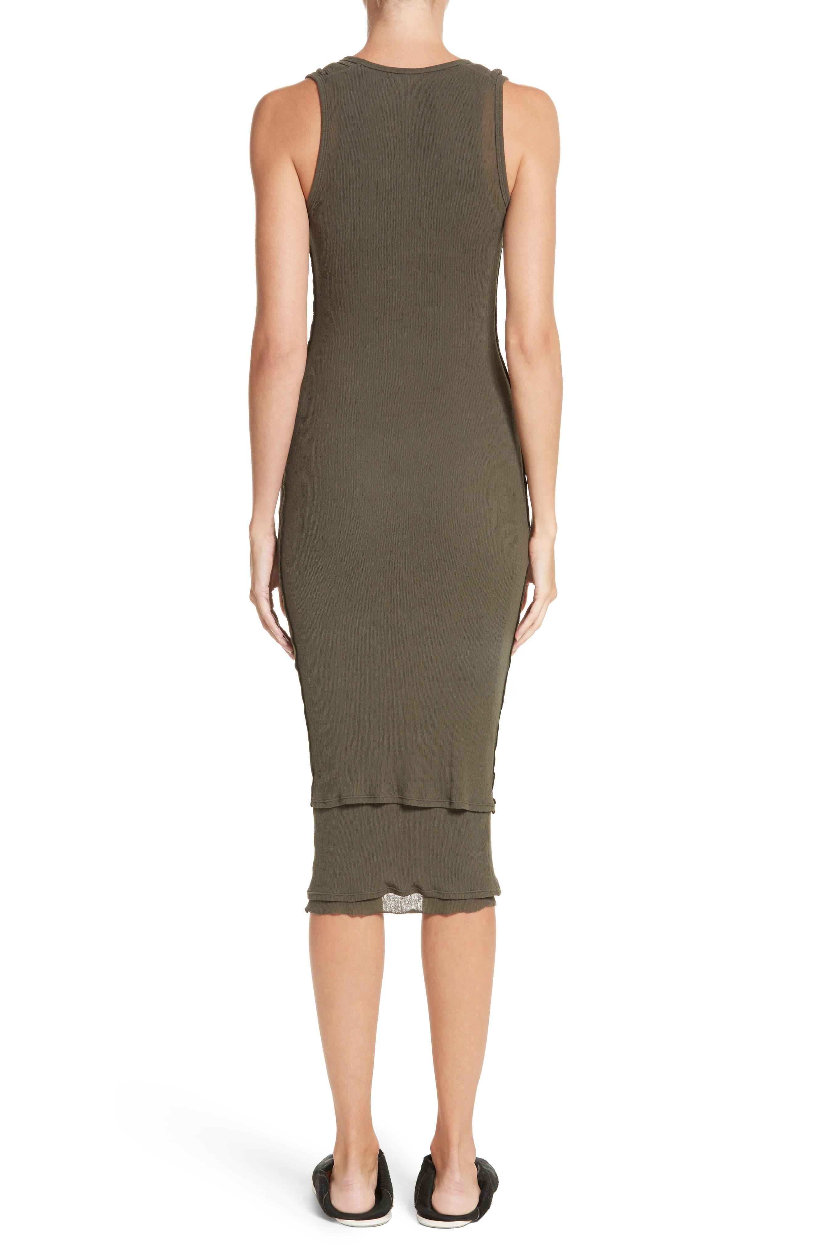 PSWL Jersey Gauze Dress,                             Alternate thumbnail 2, color,                             Army