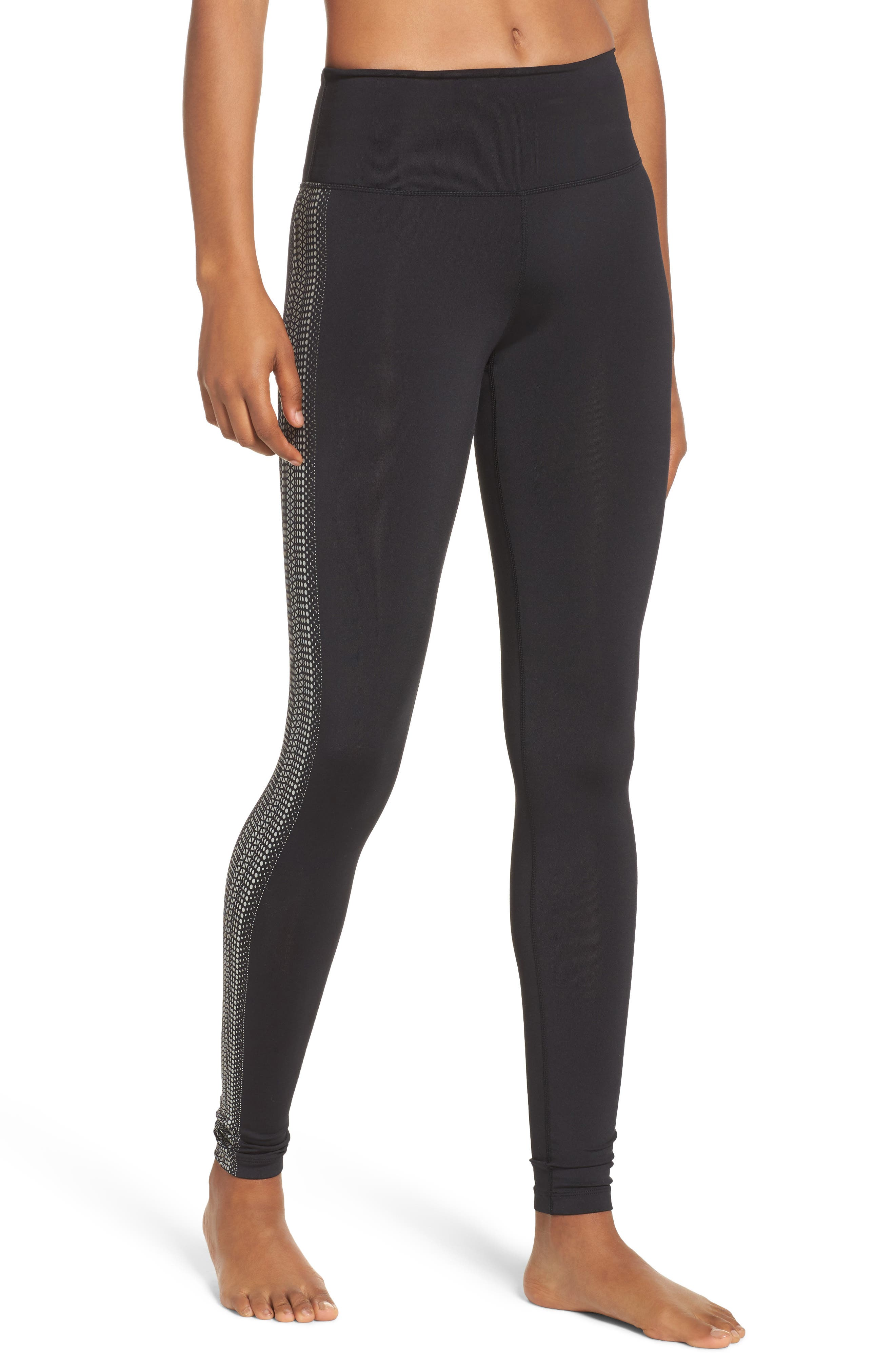 FP Movement Raku Reflective Leggings,                             Main thumbnail 1, color,                             Black