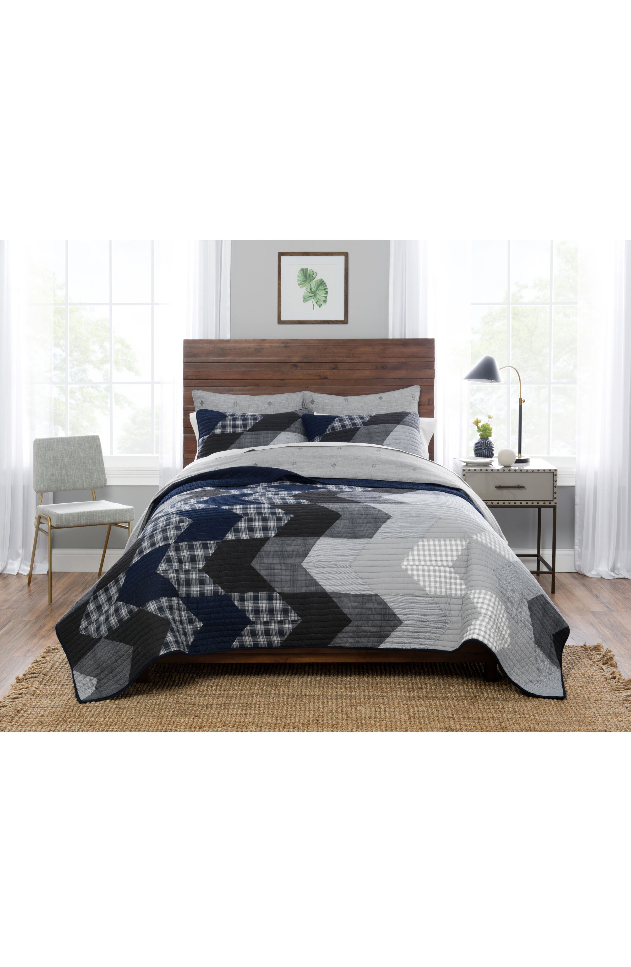 Talise River Quilt & Sham Set,                         Main,                         color, Multi