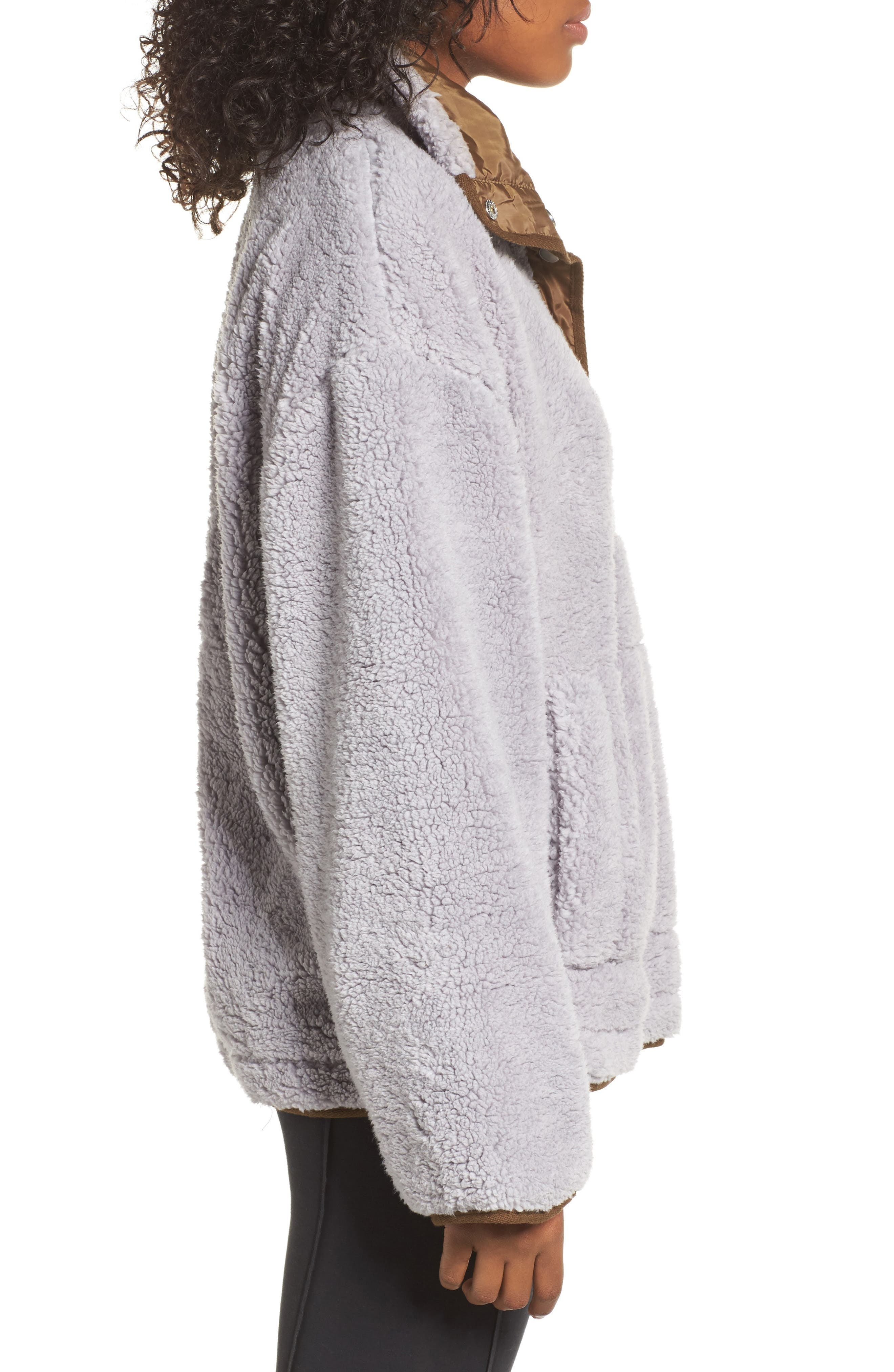 Free People Oh So Cozy Fleece Pullover,                             Alternate thumbnail 4, color,                             Grey