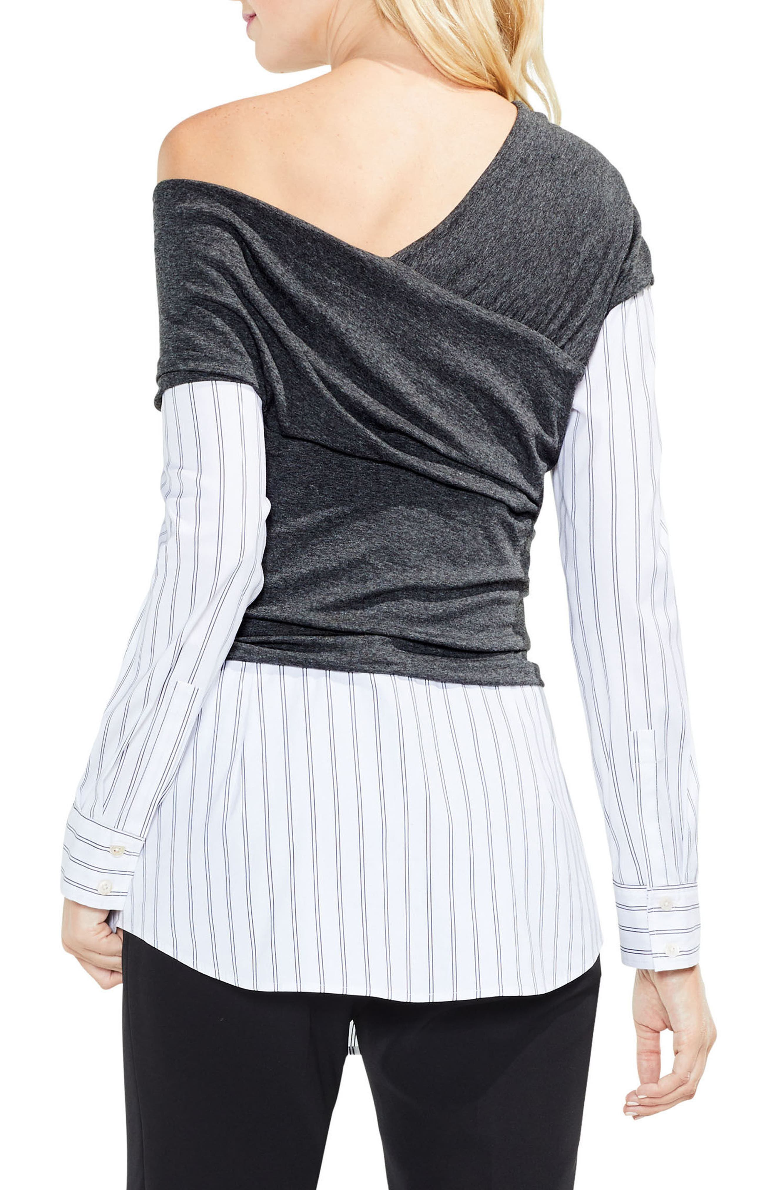 Alternate Image 2  - Vince Camuto One-Shoulder Layered Look Top