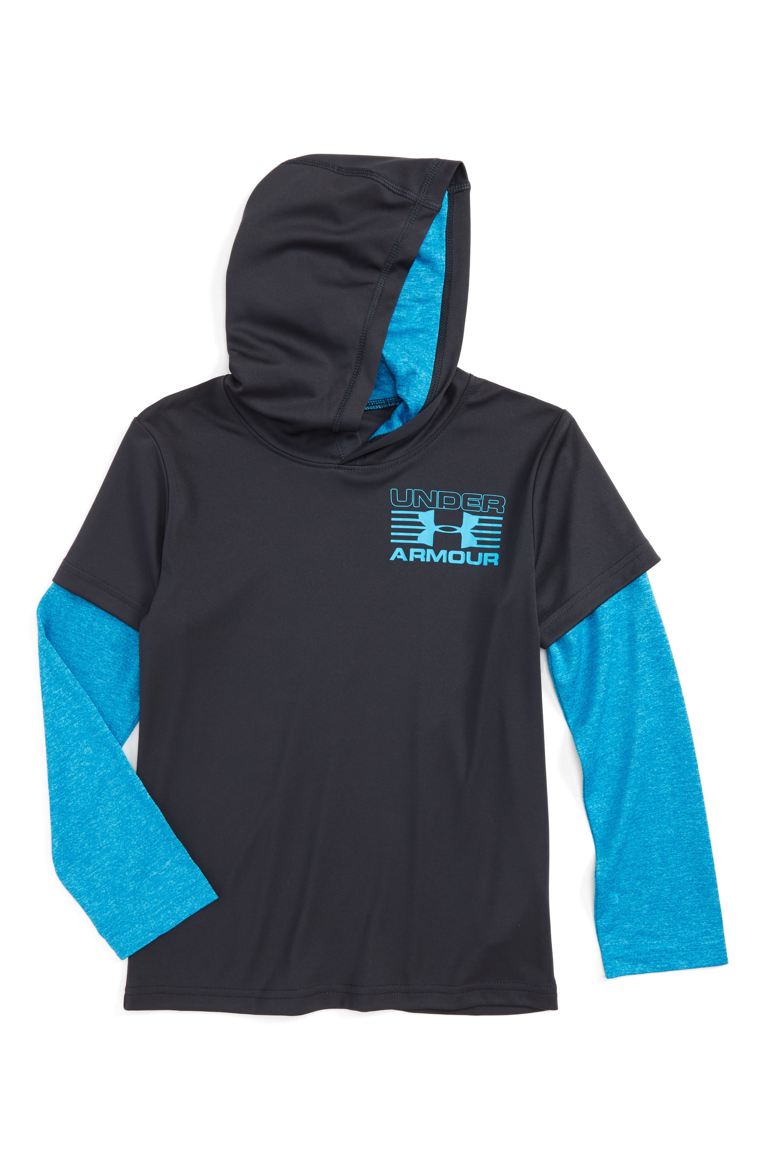 Hooded T-Shirt,                             Main thumbnail 1, color,                             Anthracite