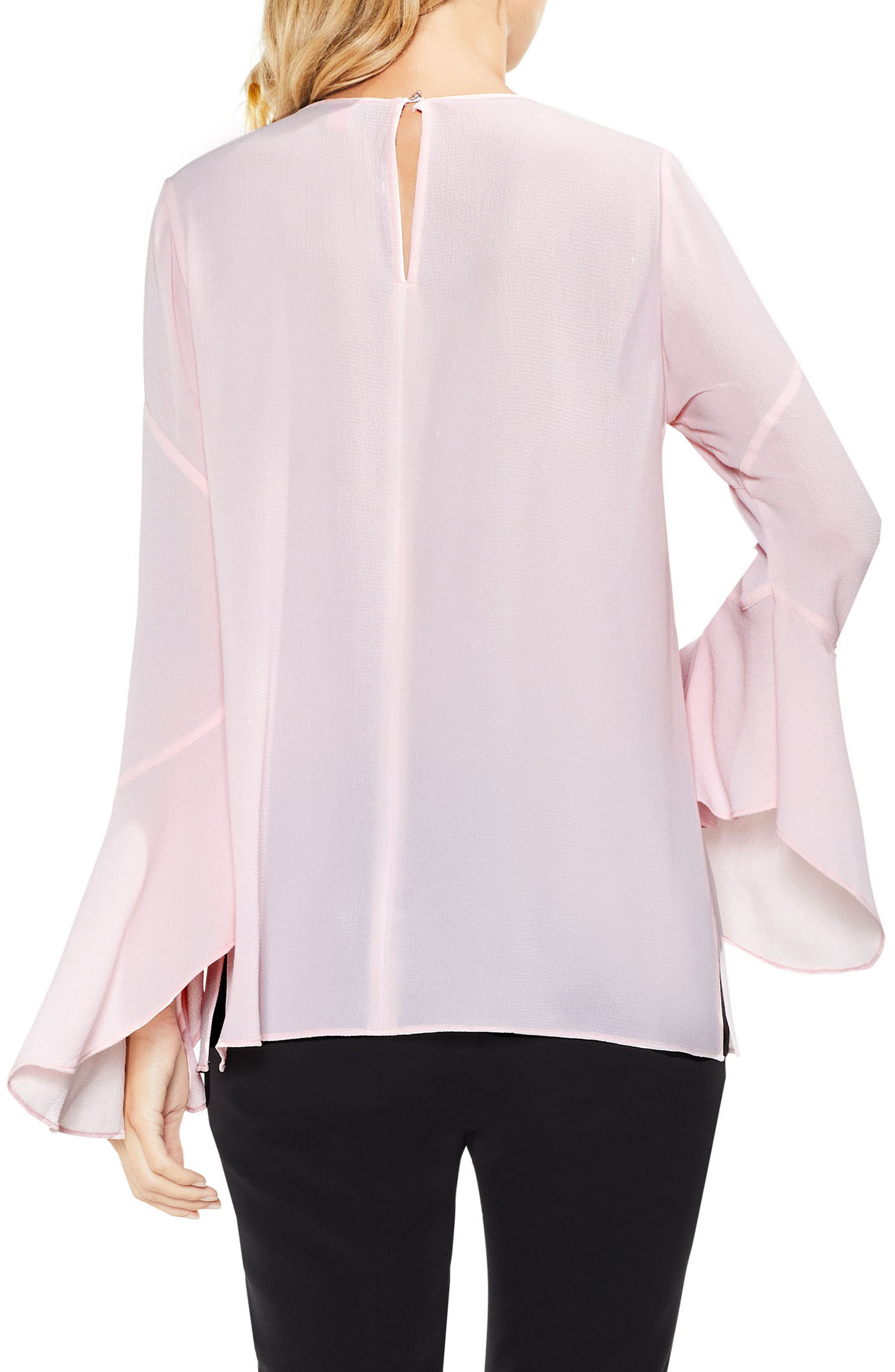 Flared Cuff Blouse,                             Alternate thumbnail 2, color,                             Opal Rose