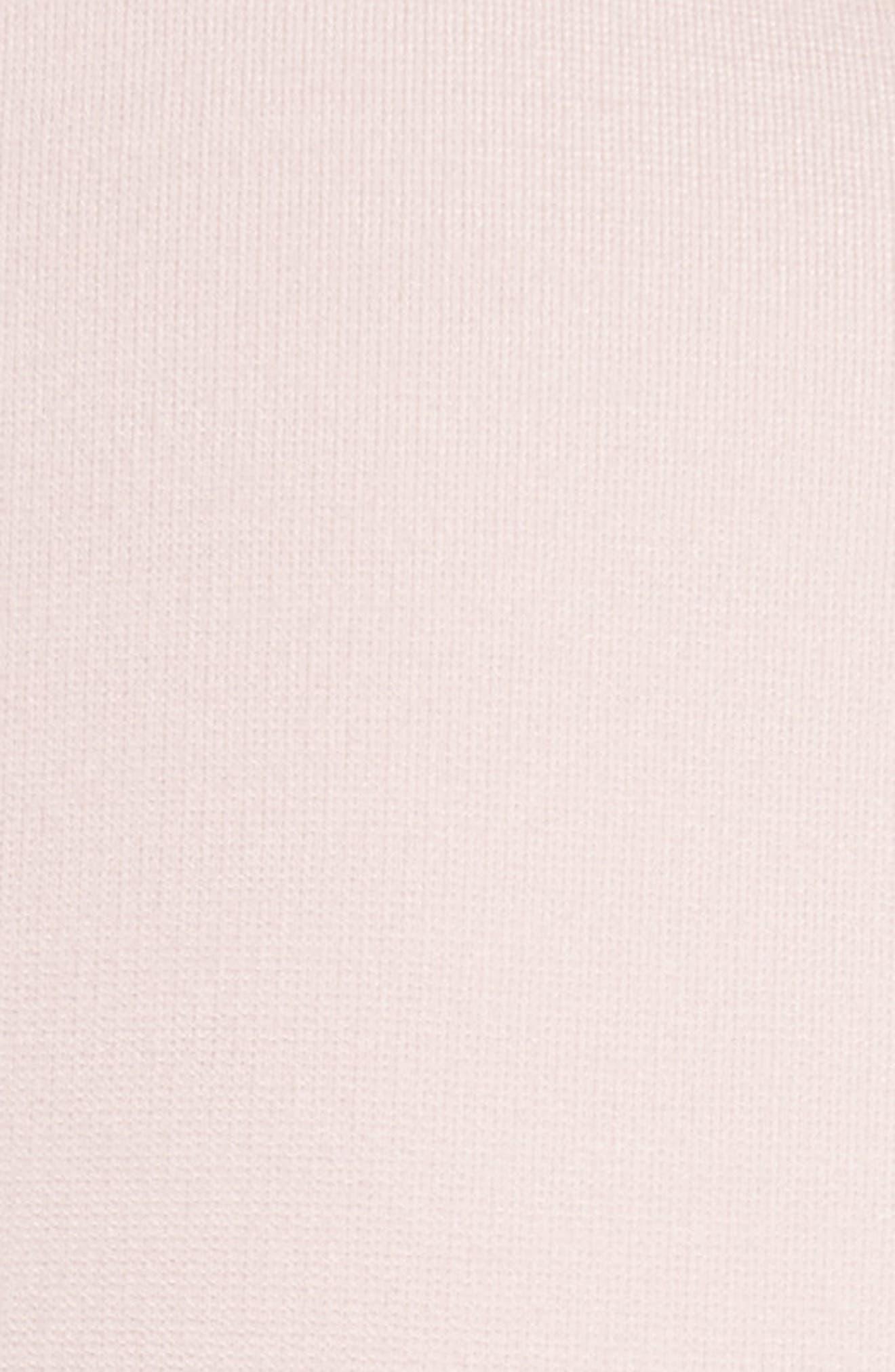 Eloquent Jacquard Skater Dress,                             Alternate thumbnail 5, color,                             Pale Pink