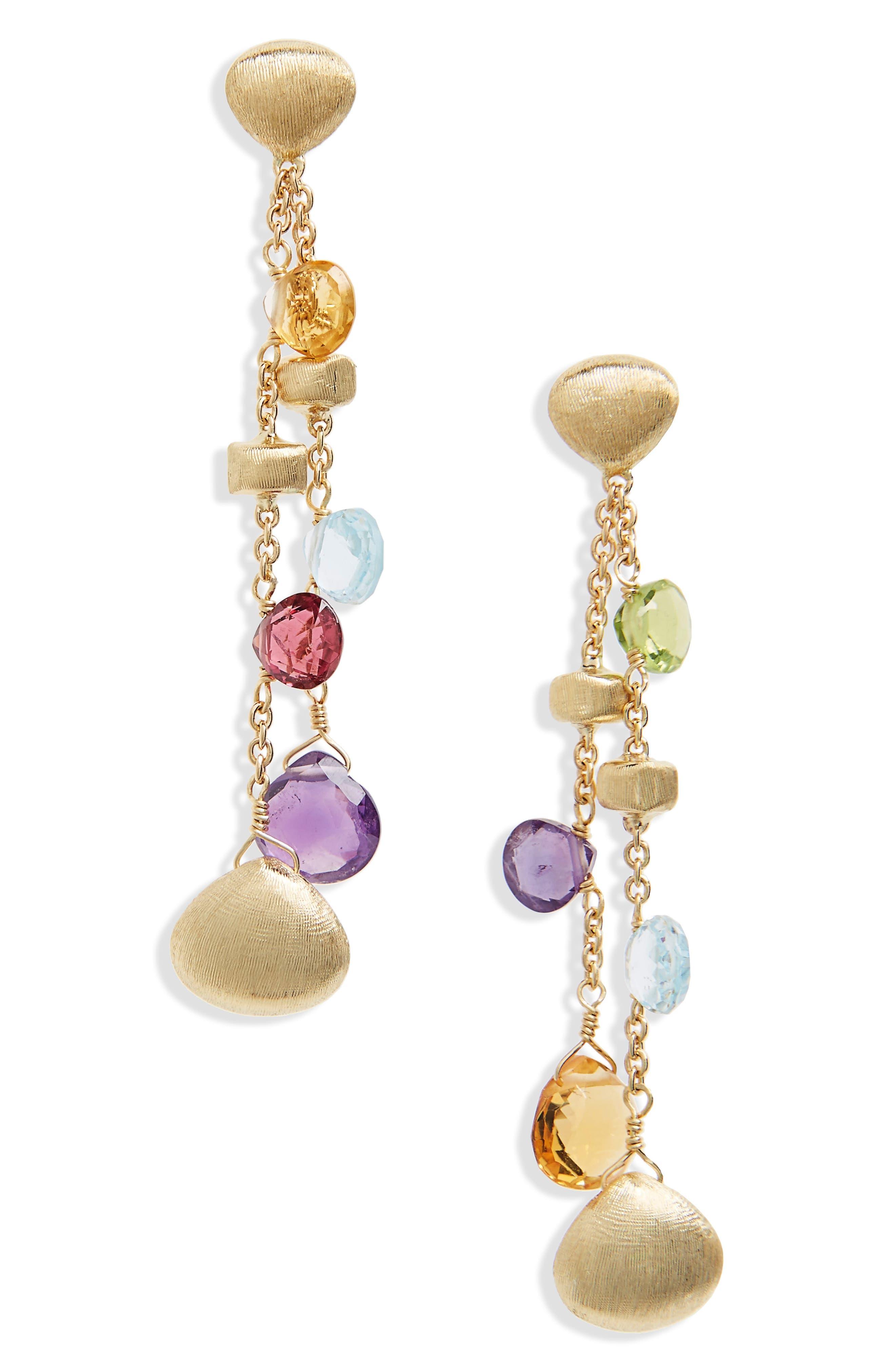 Marco Bicego Semiprecious Stone Drop Earrings